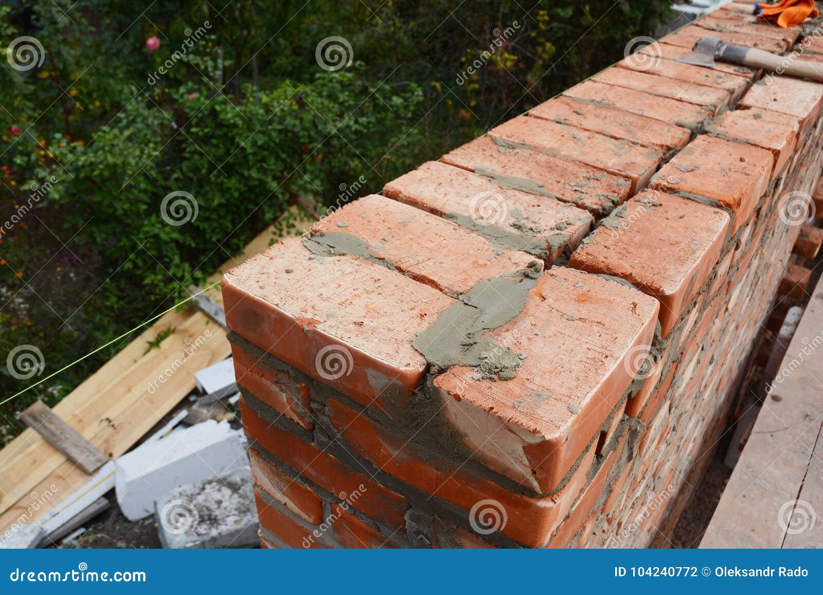 Murerifoto Murerispetsar Hur man bygger en tegelstenvägg