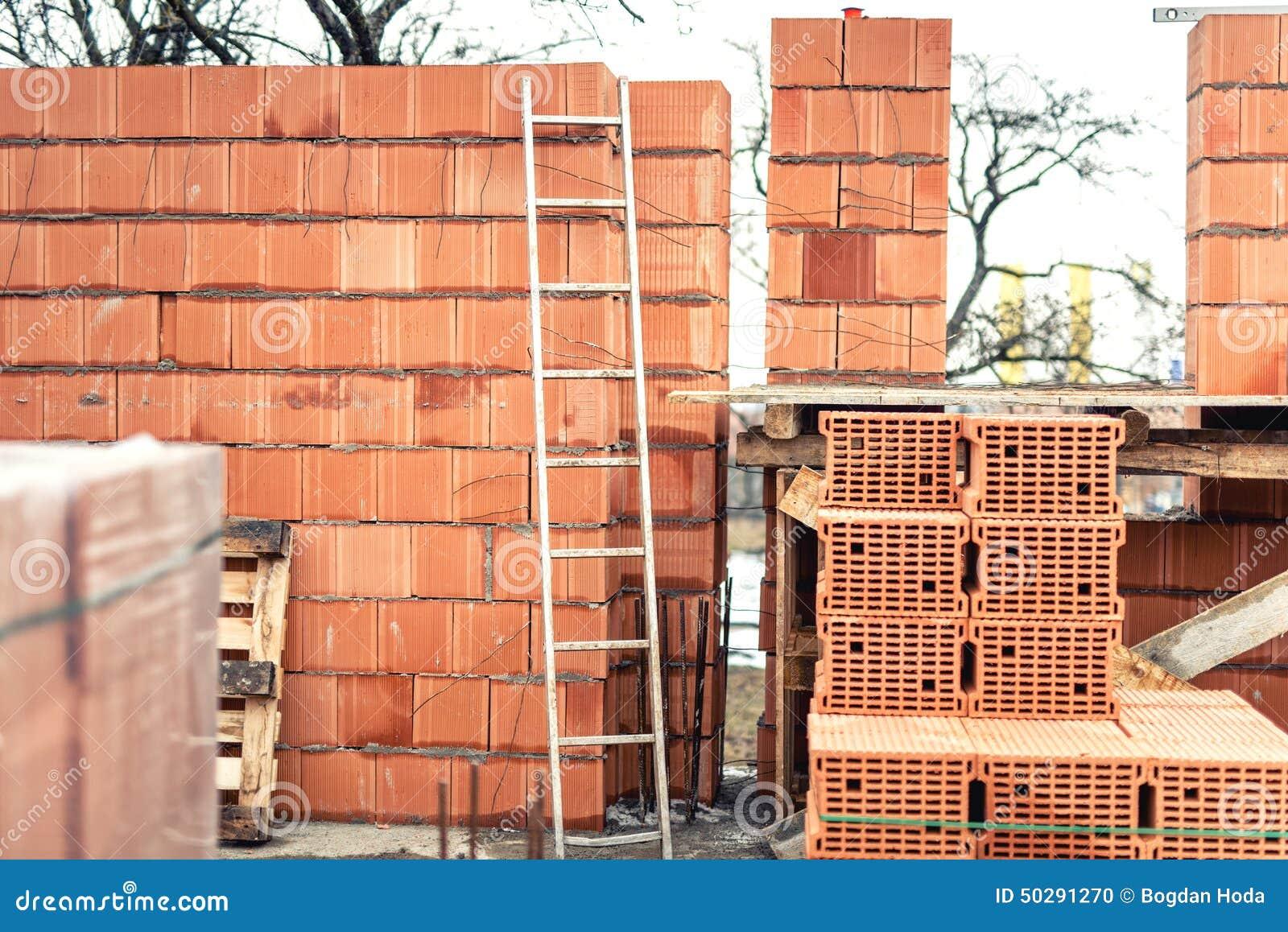 Muri la costruzione con i mattoni professionali cantiere for Casa di costruzione personalizzata