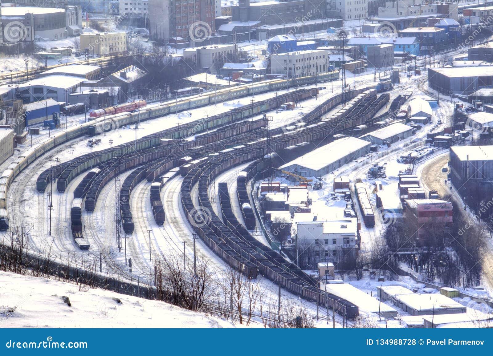 Murmansk Frachtowa stacja kolejowa