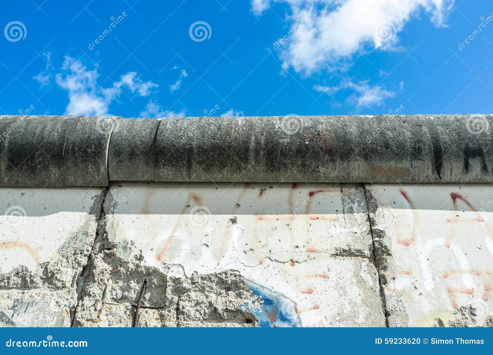 Download Muro de Berlín foto de archivo. Imagen de tapa, azul - 59233620