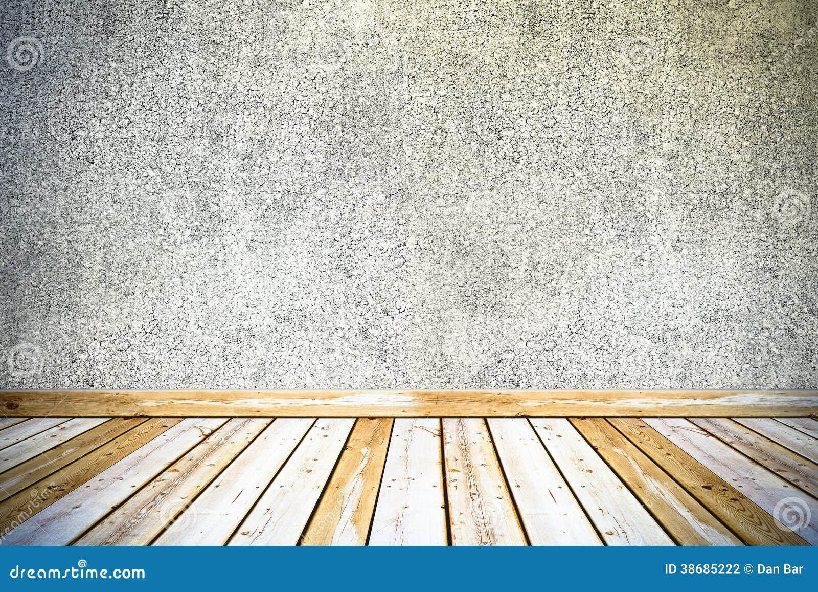 Muro de cemento del vintage y piso de madera fotograf a de - Muro de madera ...