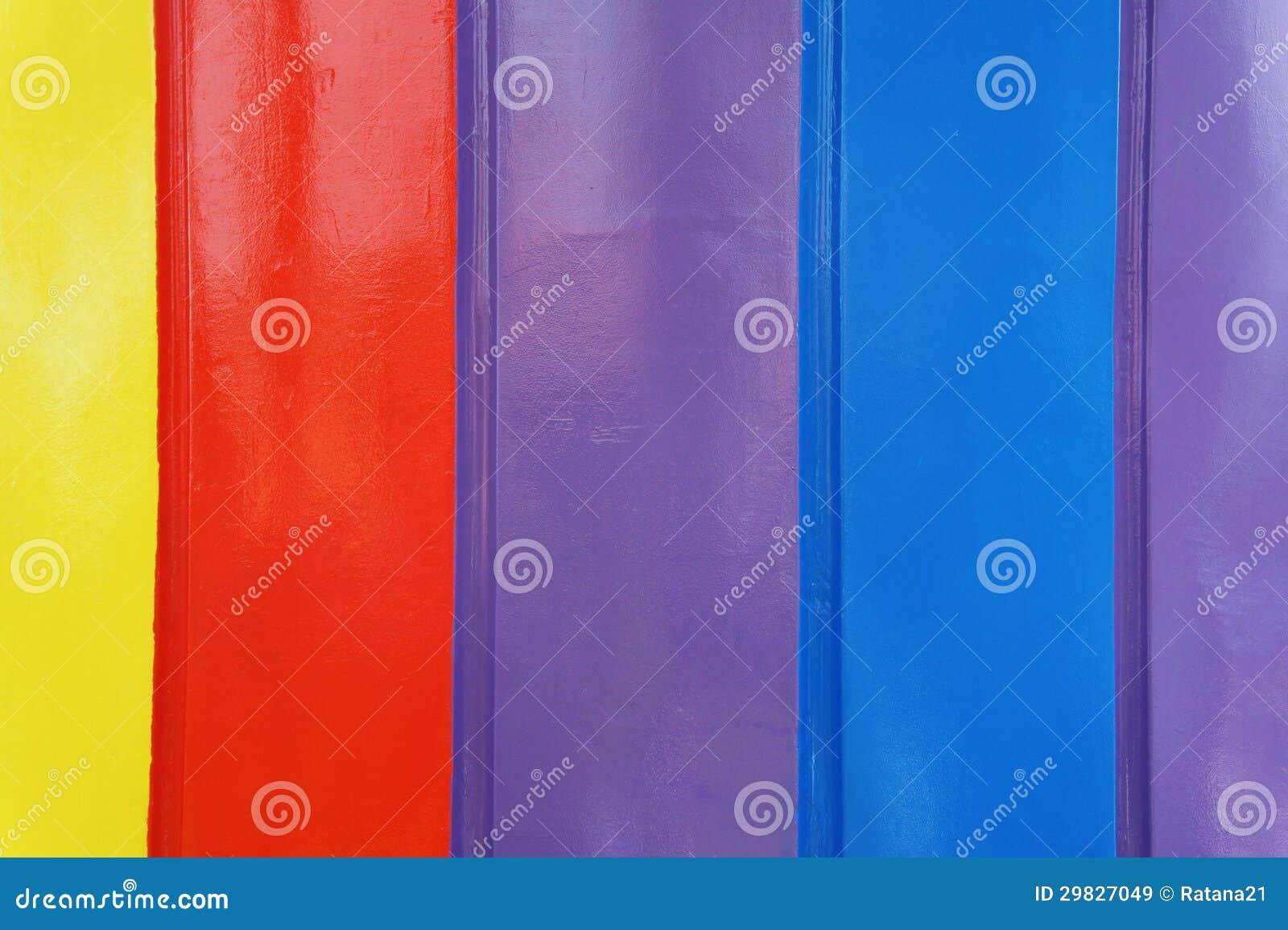 Muro de cimento multicolorido