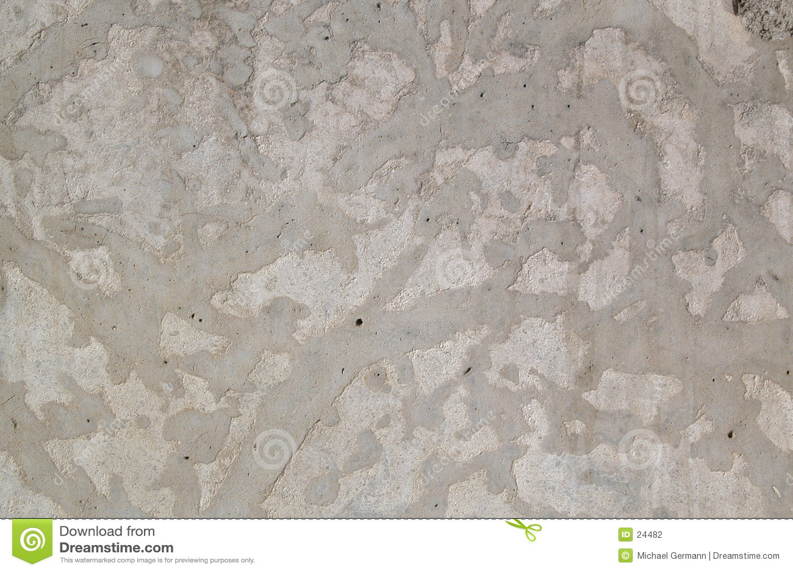 Muro di cemento decorativo