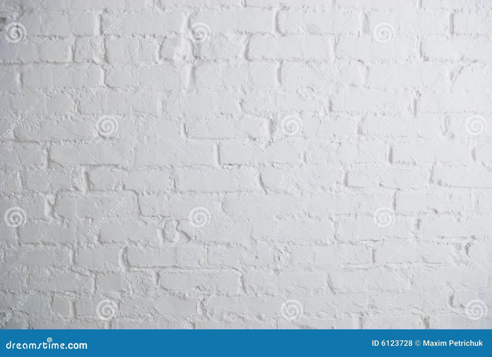 Muro di mattoni bianco fotografia stock. Immagine di radura - 6123728