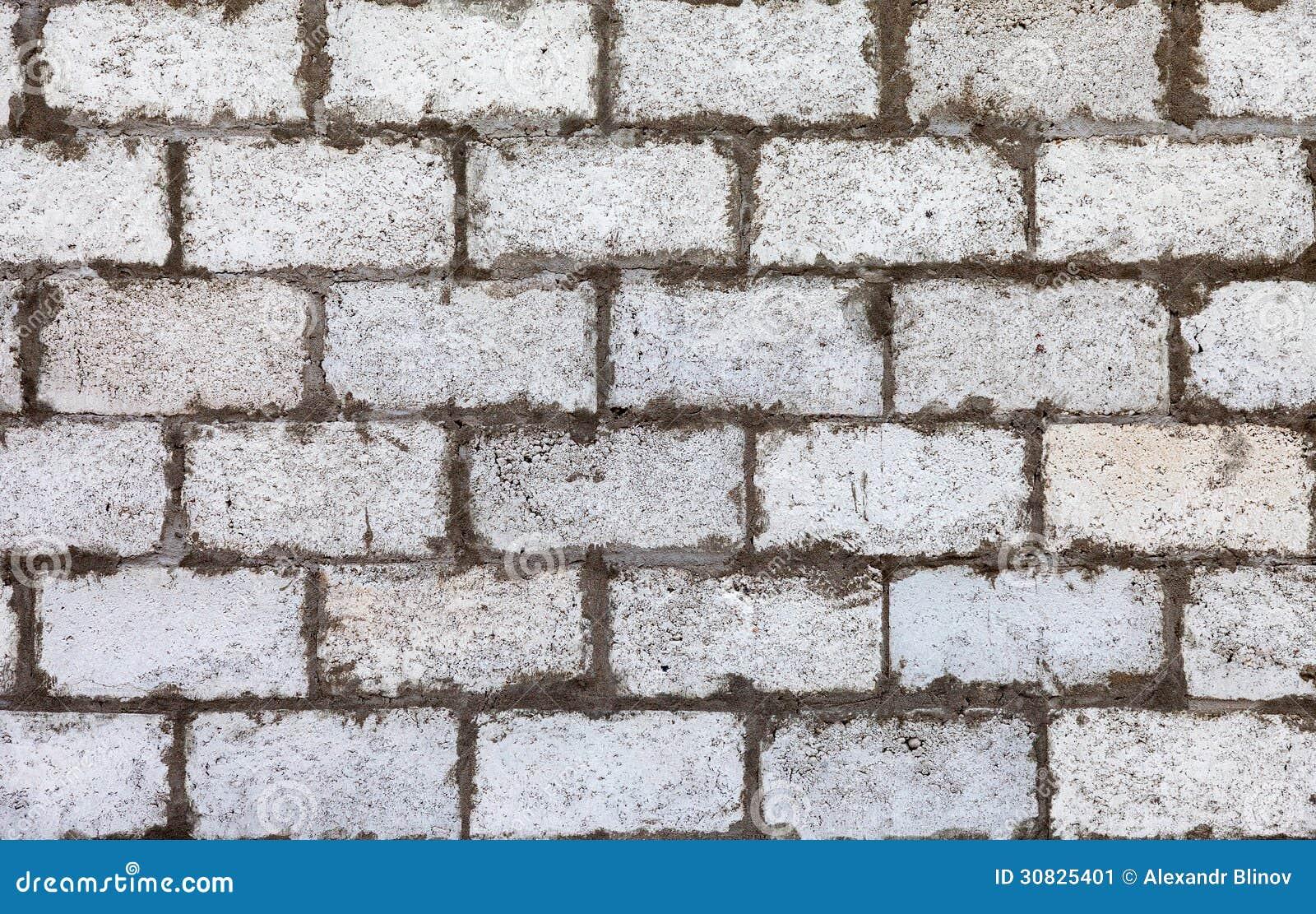 Muro di mattoni bianco come fondo