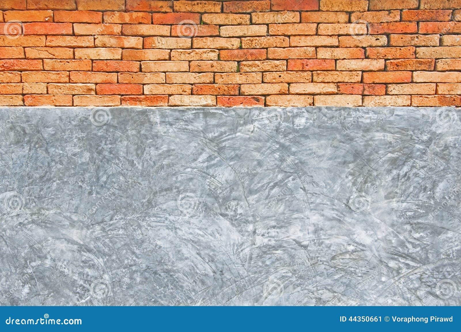 Muro di mattoni concreto e rosso