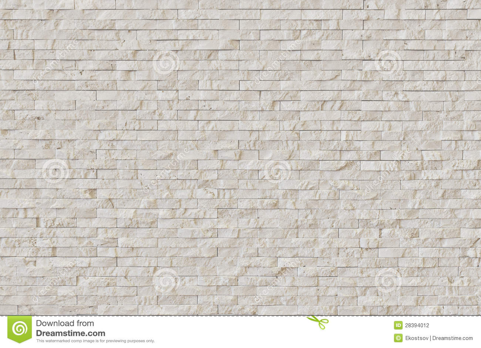 Muro Di Mattoni Di Pietra Moderno Bianco Fotografia Stock - Immagine: 28394012