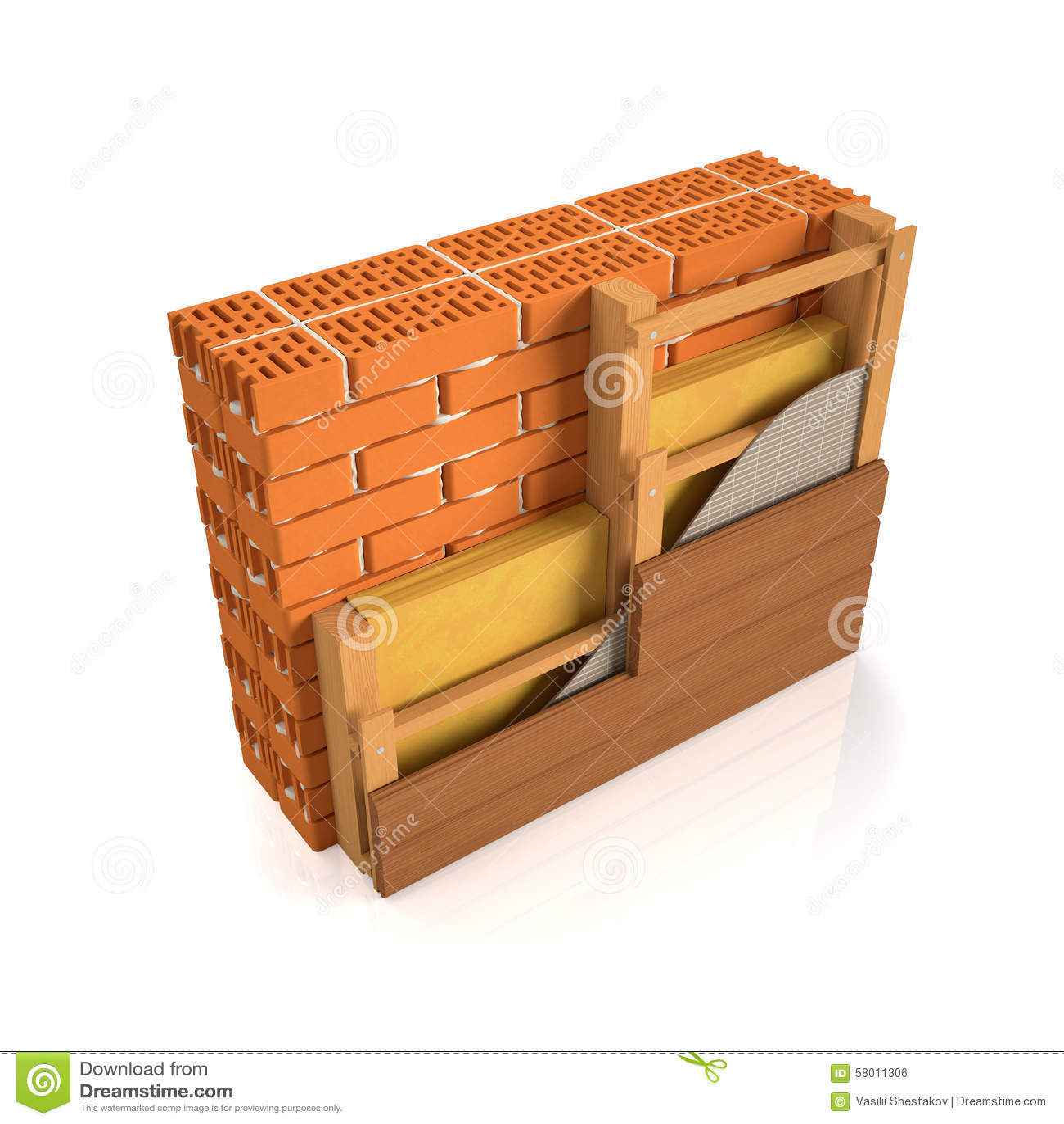 Muro di mattoni di rifinitura