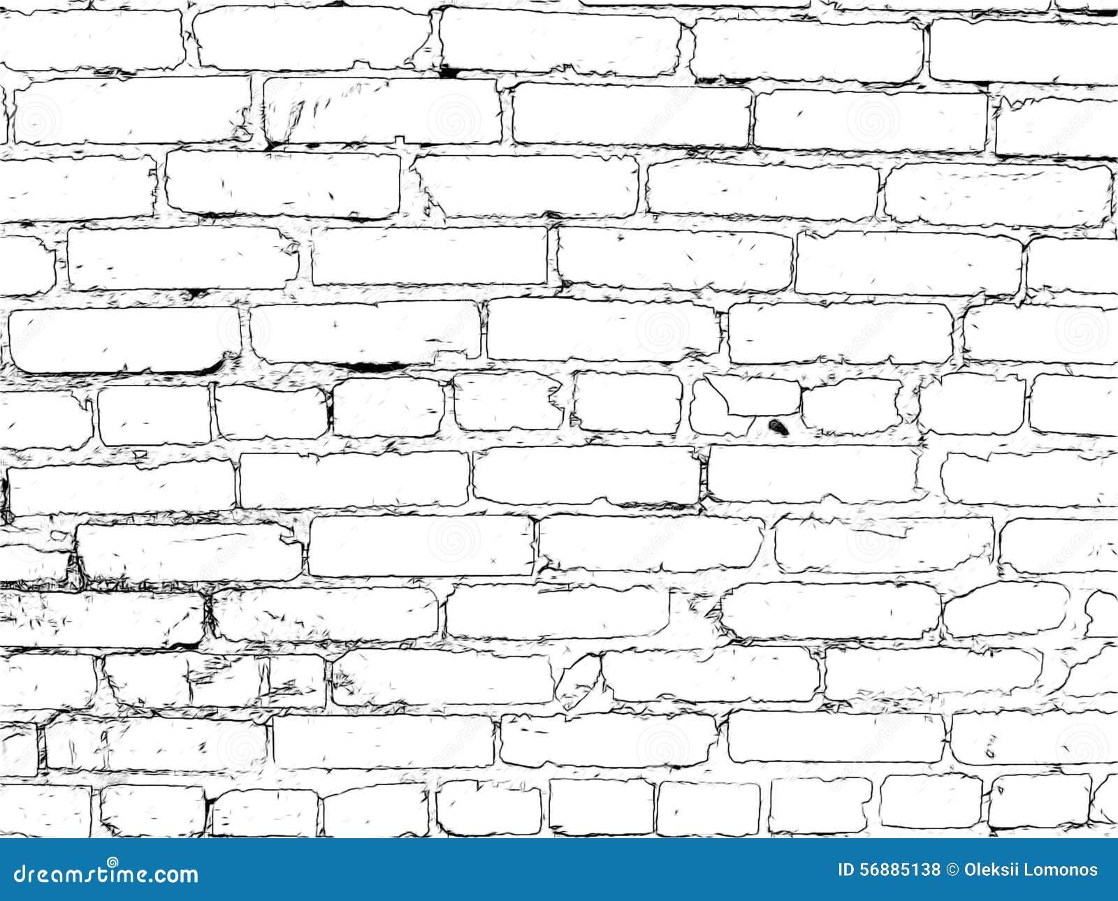 Muro di mattoni dipinto nel nero