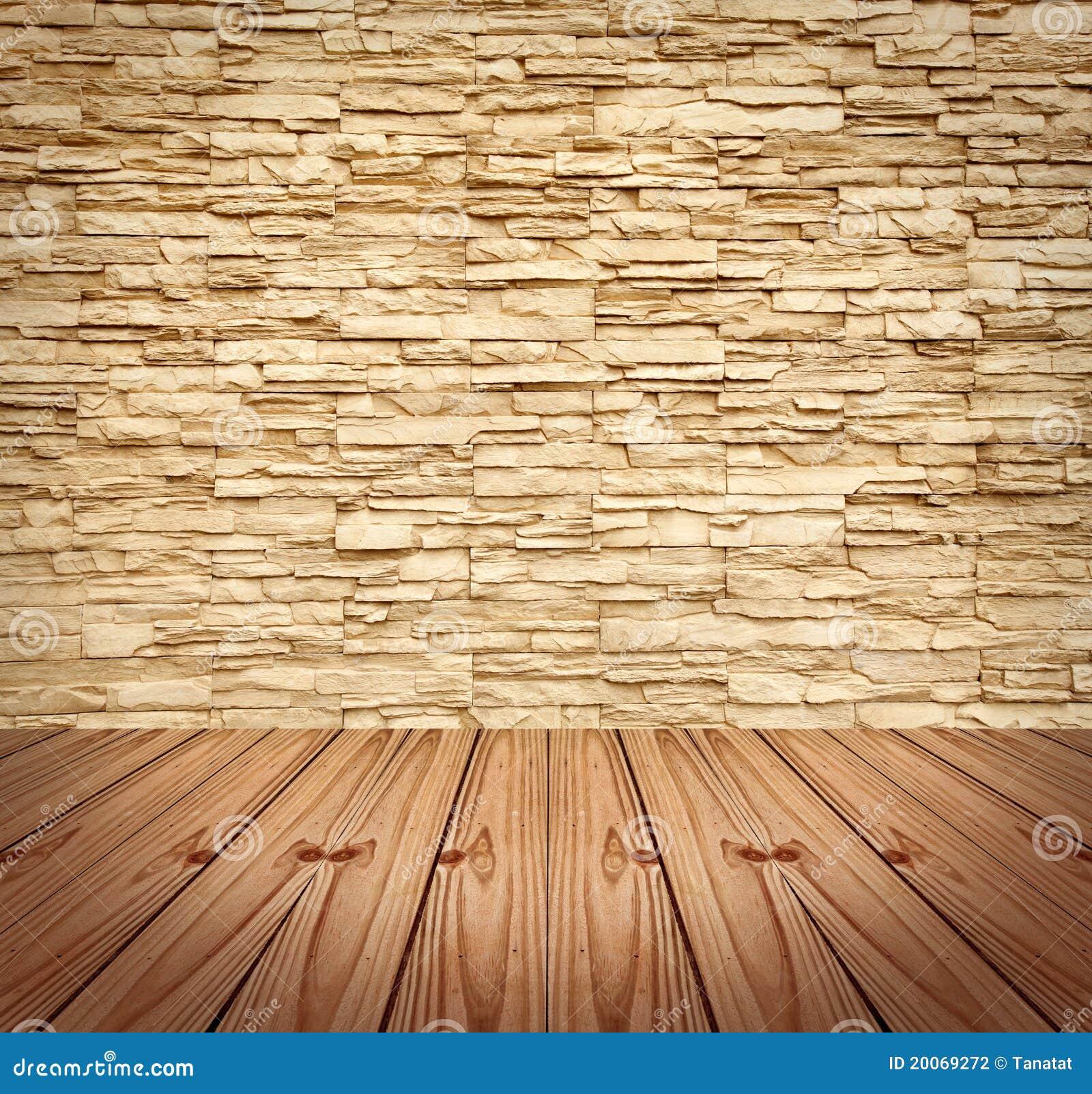 Muro di mattoni moderno in bianco e pavimento di legno - Parete a mattoncini ...
