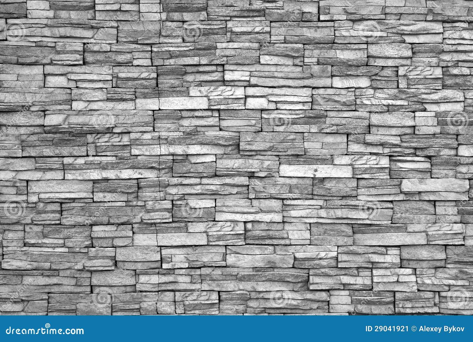 Muro Di Mattoni Moderno (foto In Bianco E Nero). Muro Di Mattoni Come Fondo. Immagine Stock ...