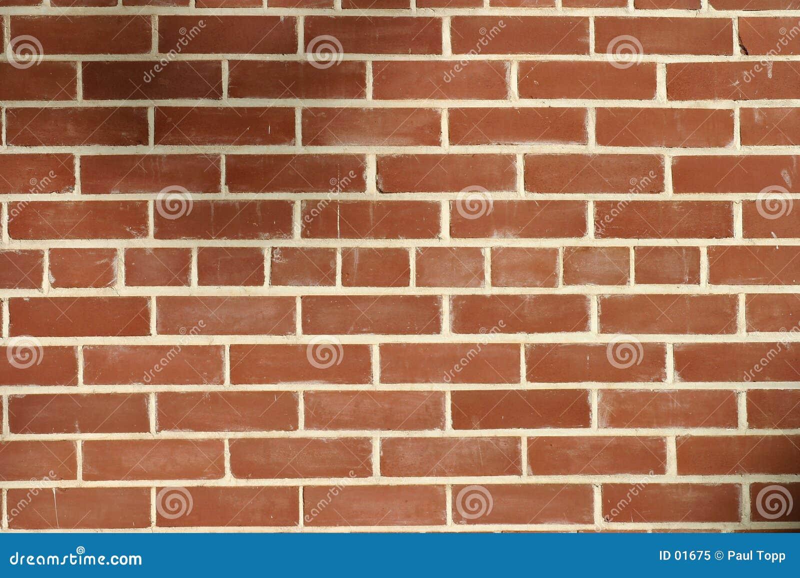 Muro di mattoni rosso
