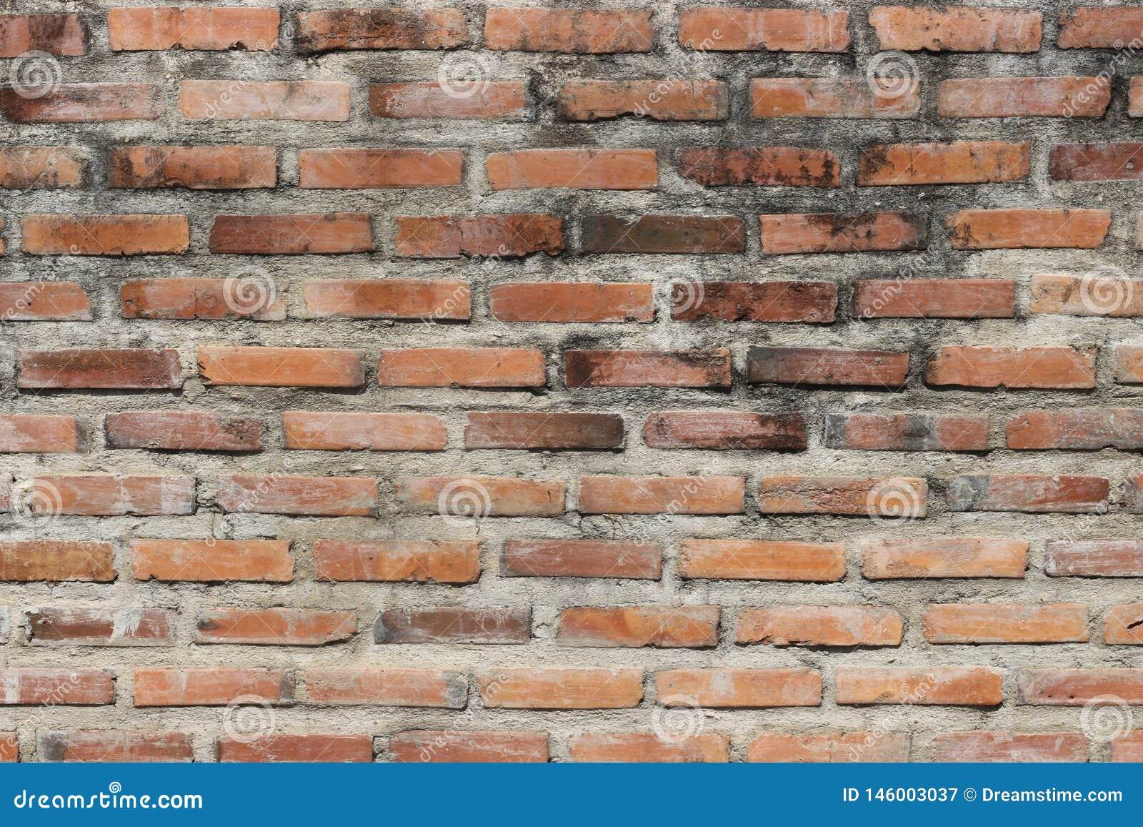 Muro di mattoni sporco