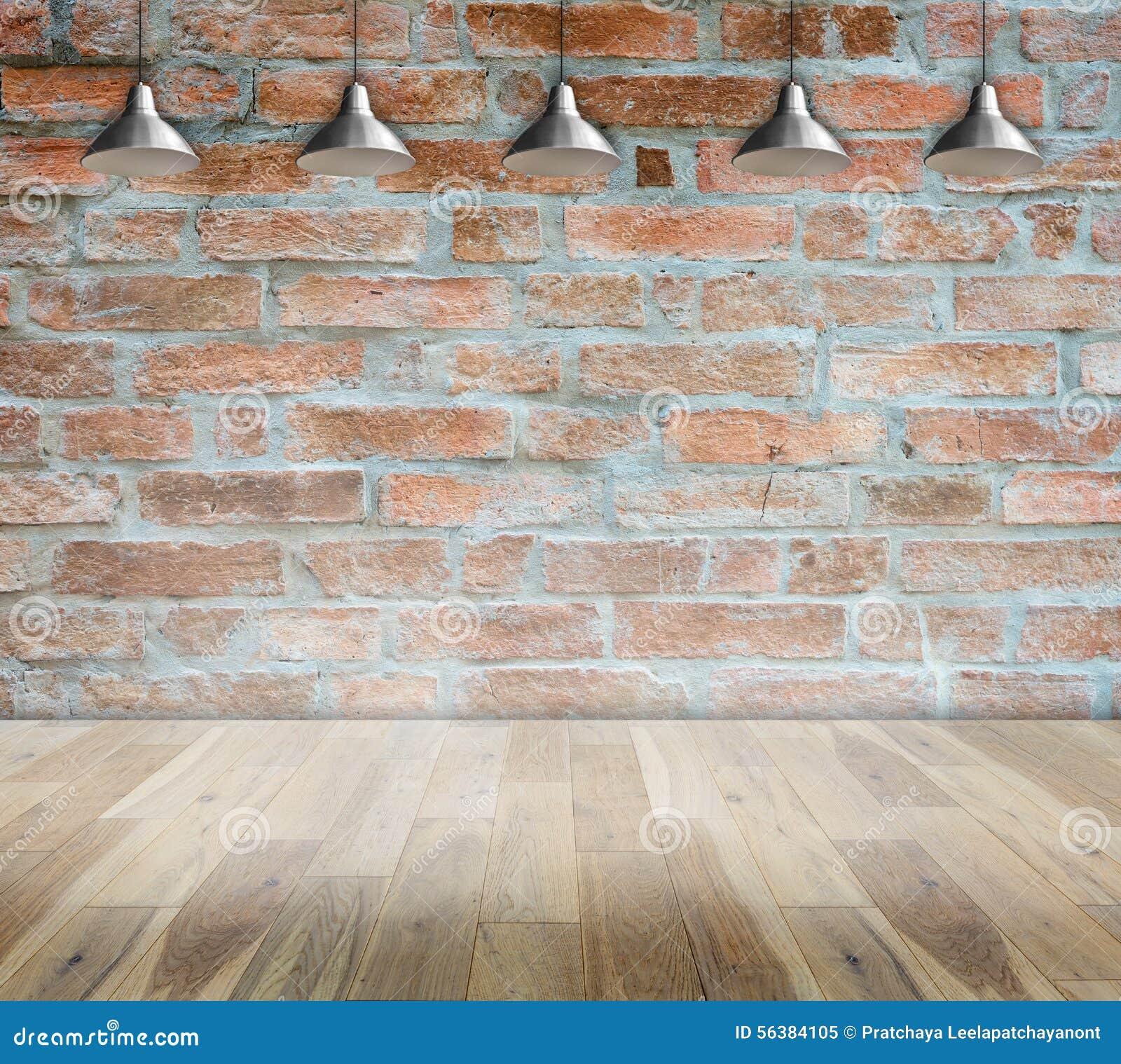 Muro di mattoni su stile moderno interno della stanza di - Pavimento interno moderno ...