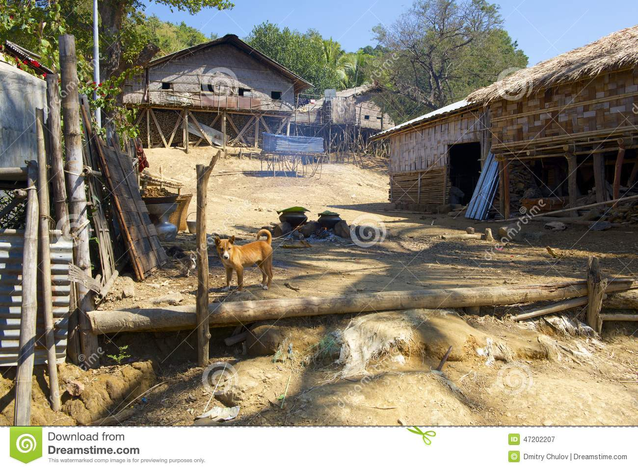 Murong hill tribe village near bandarban bangladesh stock for Bangladesh village house design