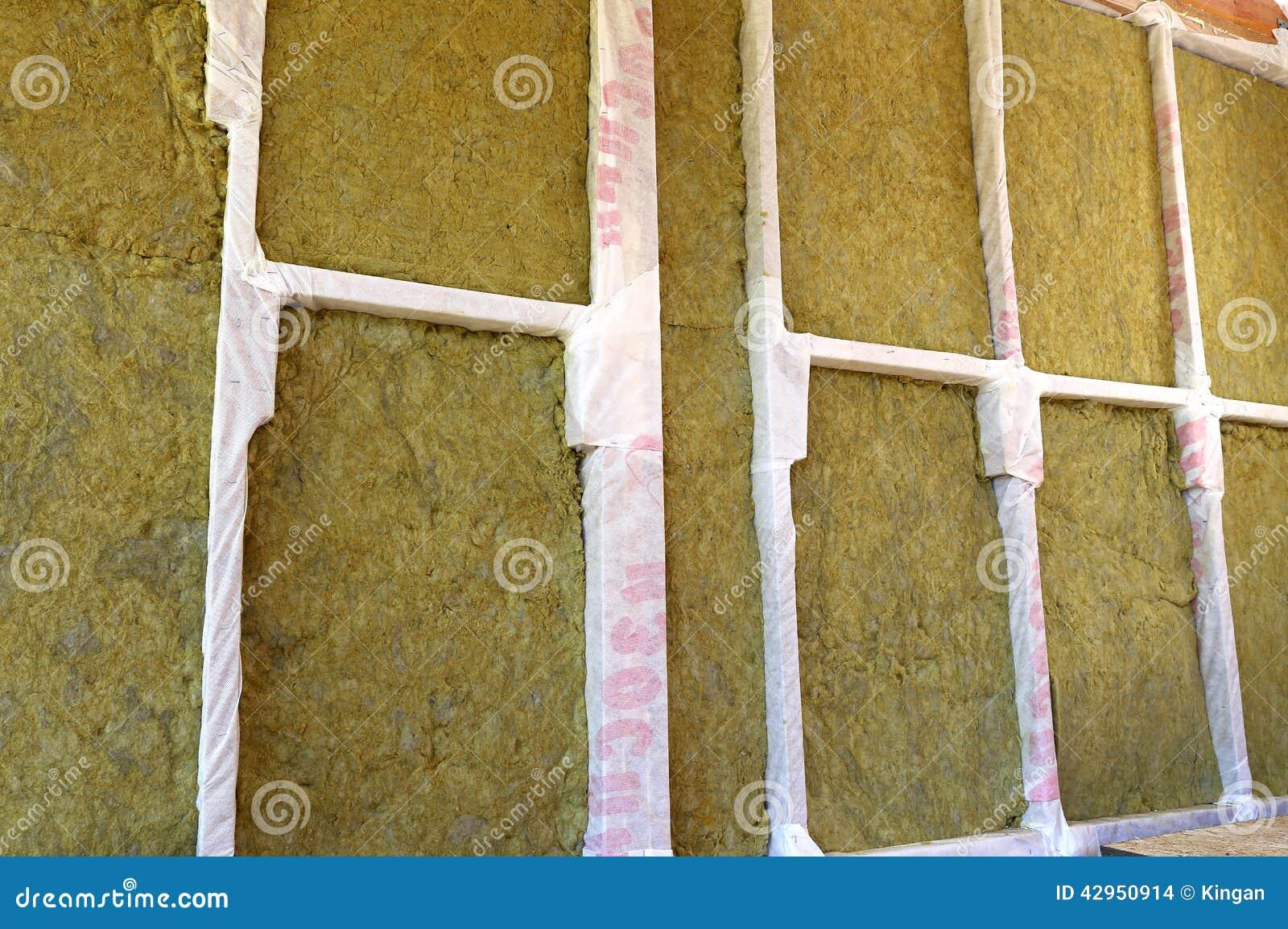 Murs D Une Maison De Cadre Avec Différents Types D Isolation Thermique