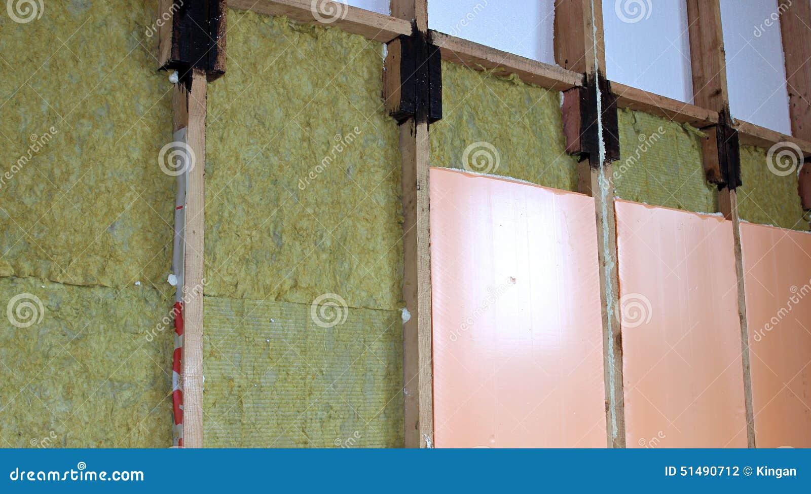 Construction Des Murs Du0027une Maison De Cadre Avec Différents Types Du0027 Isolation Thermique