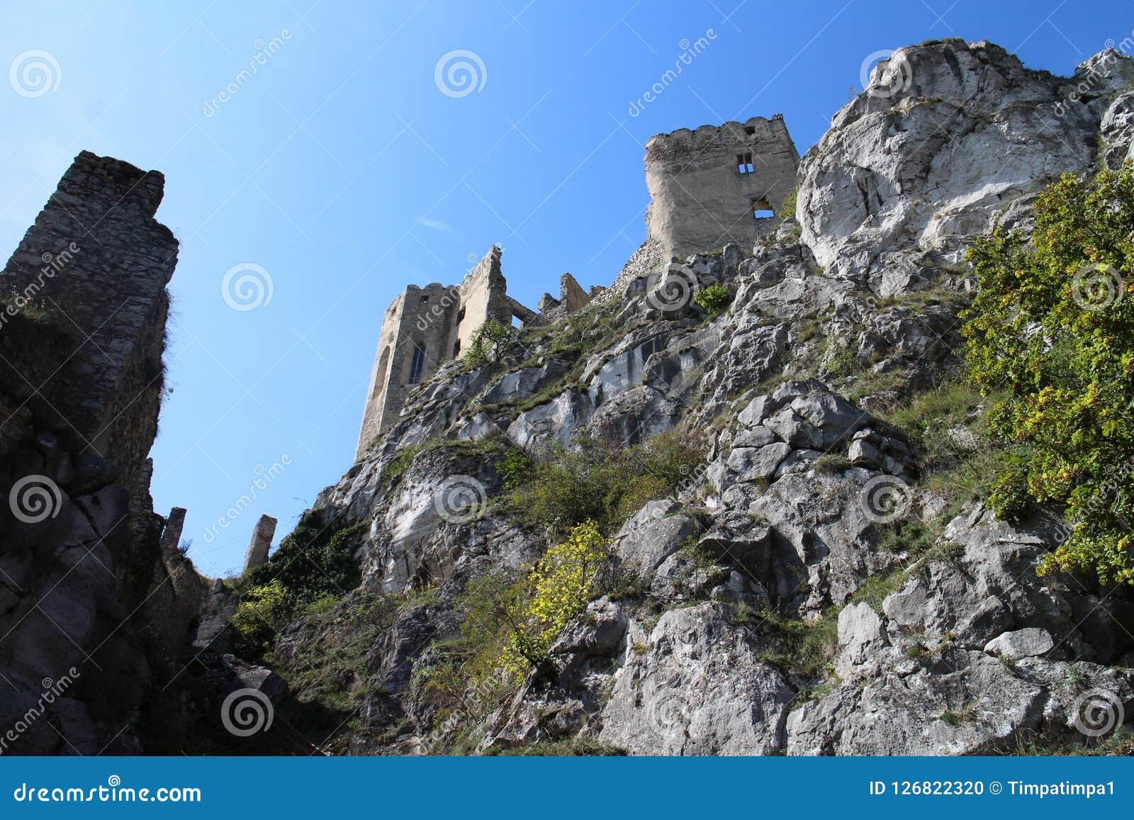 Murs de château de Beckov