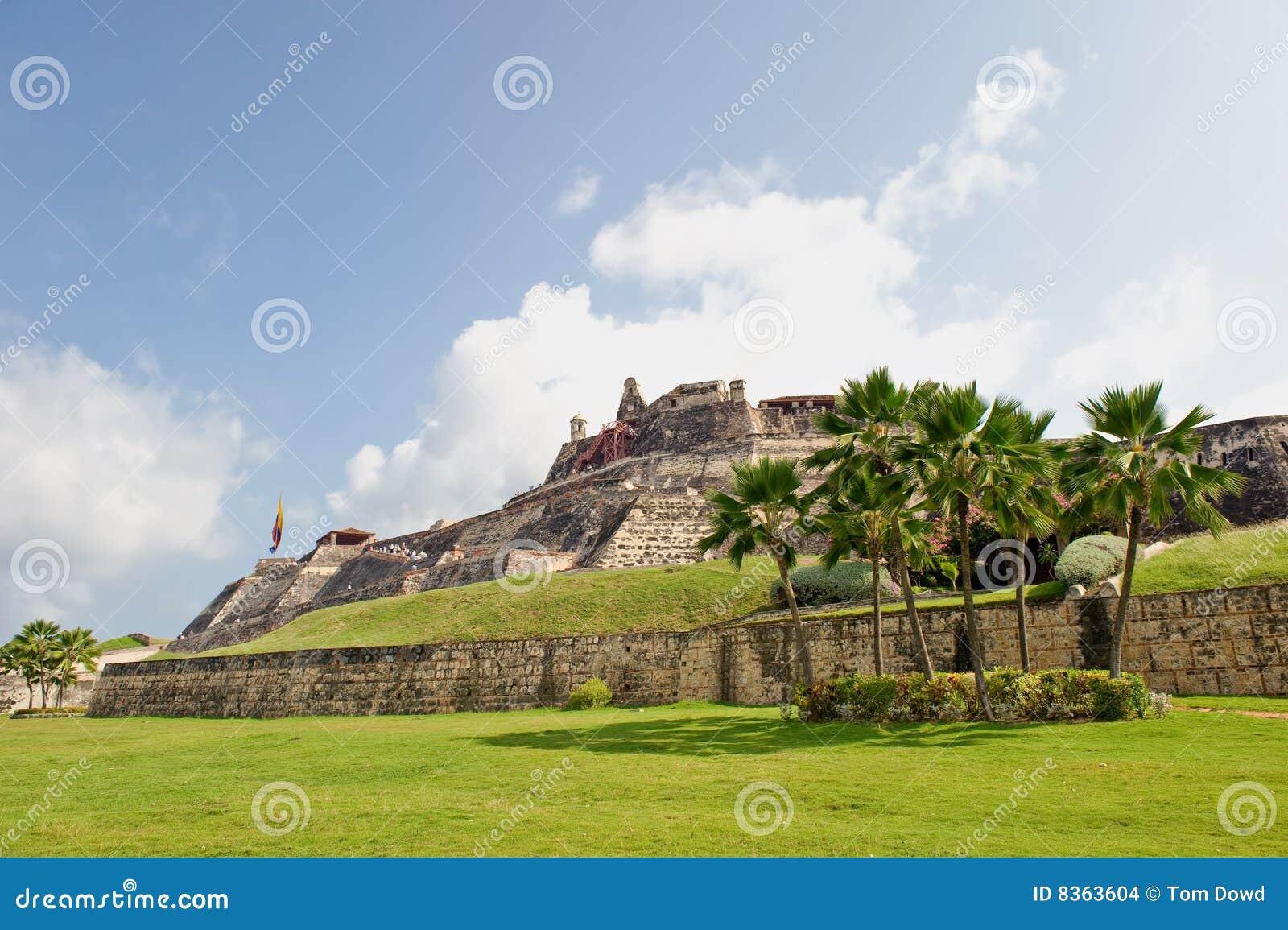 Murs de la Colombie de ville de Carthagène