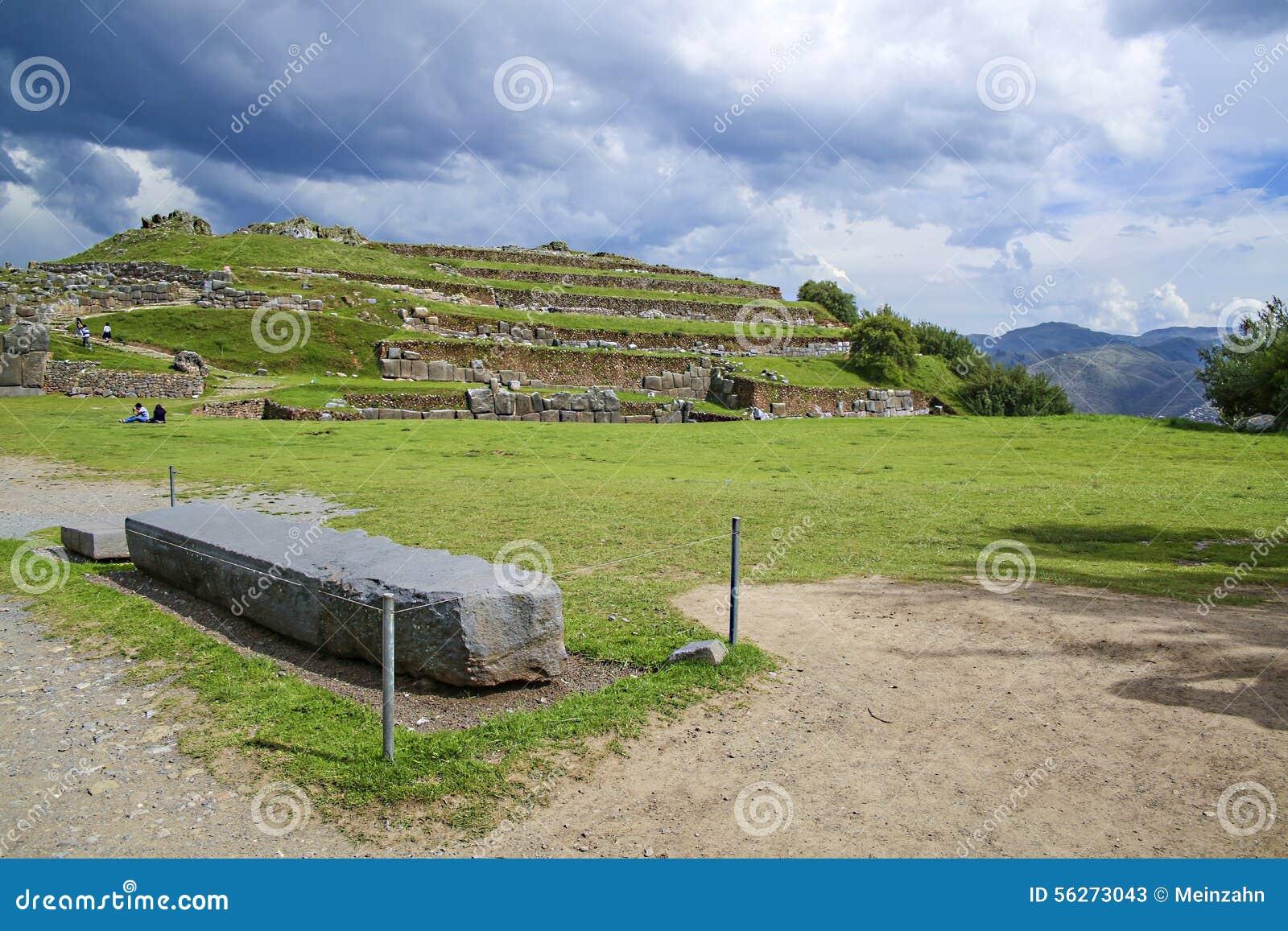 Murs de Sacsayhuaman, forteresse antique d Inca près de Cuzco, Pérou