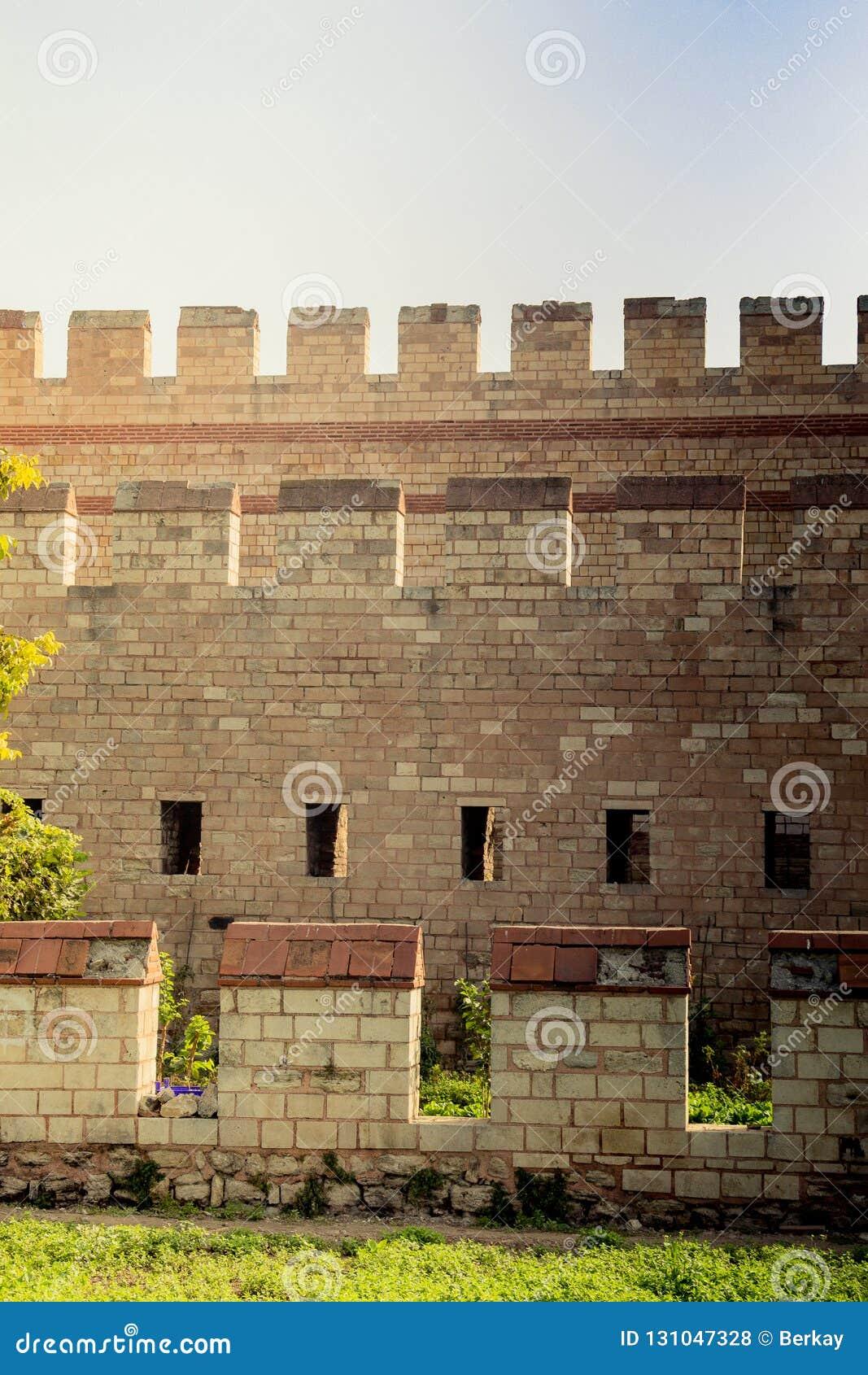 Murs de ville de Constantinople à Istanbul, Turquie