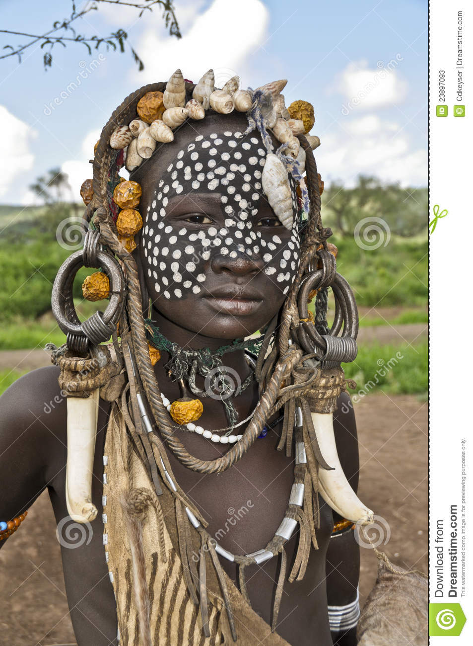 mursi Boy Mursi boy Editorial Stock Photo