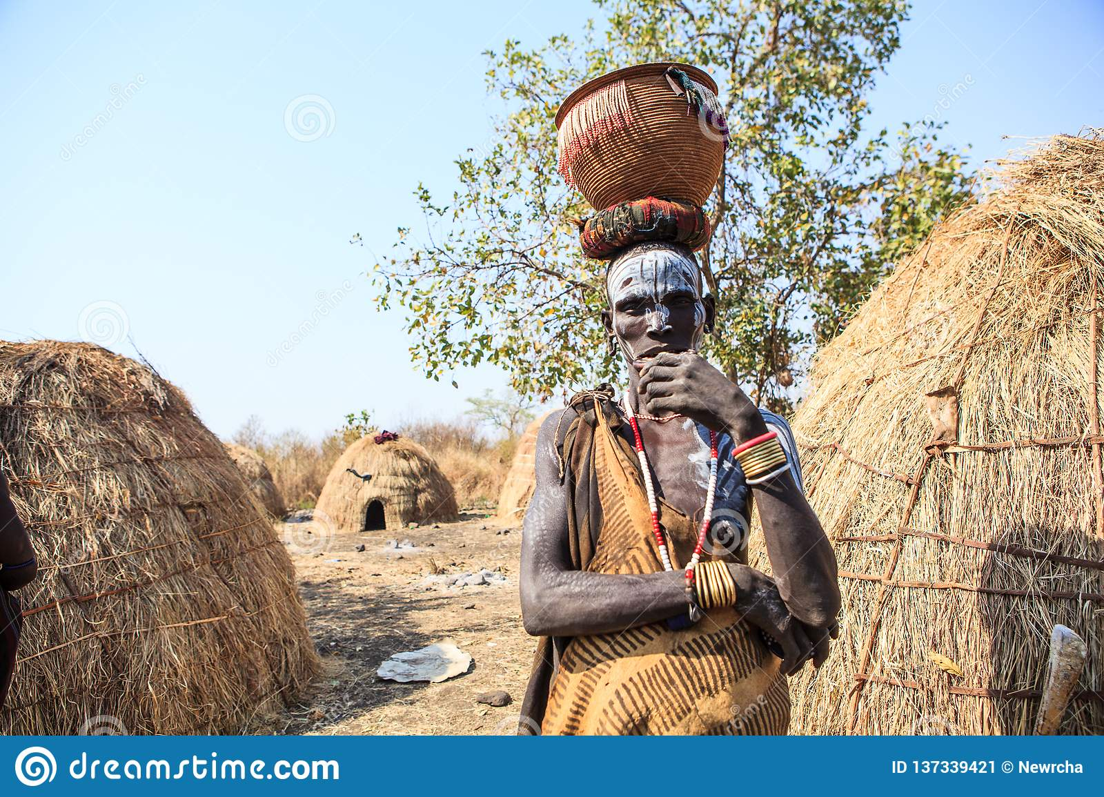 Mursi Tribe man