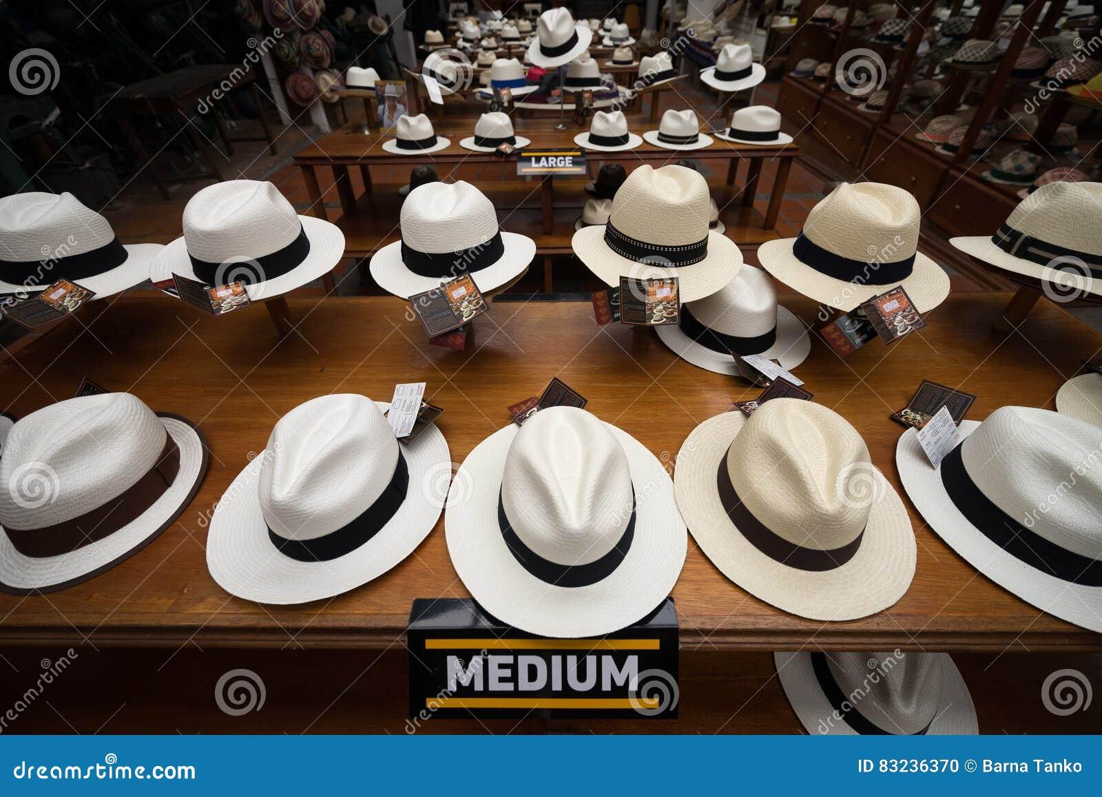 large choix de couleurs et de dessins gamme complète d'articles luxuriant dans la conception Musée De Chapeau De Panama à Cuenca Image éditorial - Image ...