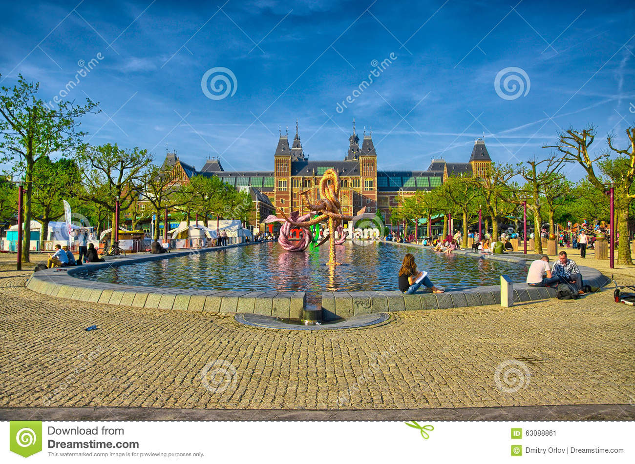 Download Musée De Rijksmuseum Amsterdam Avec Des Mots I Amsterdam En Hollande, Photo éditorial - Image du europe, netherlands: 63088861