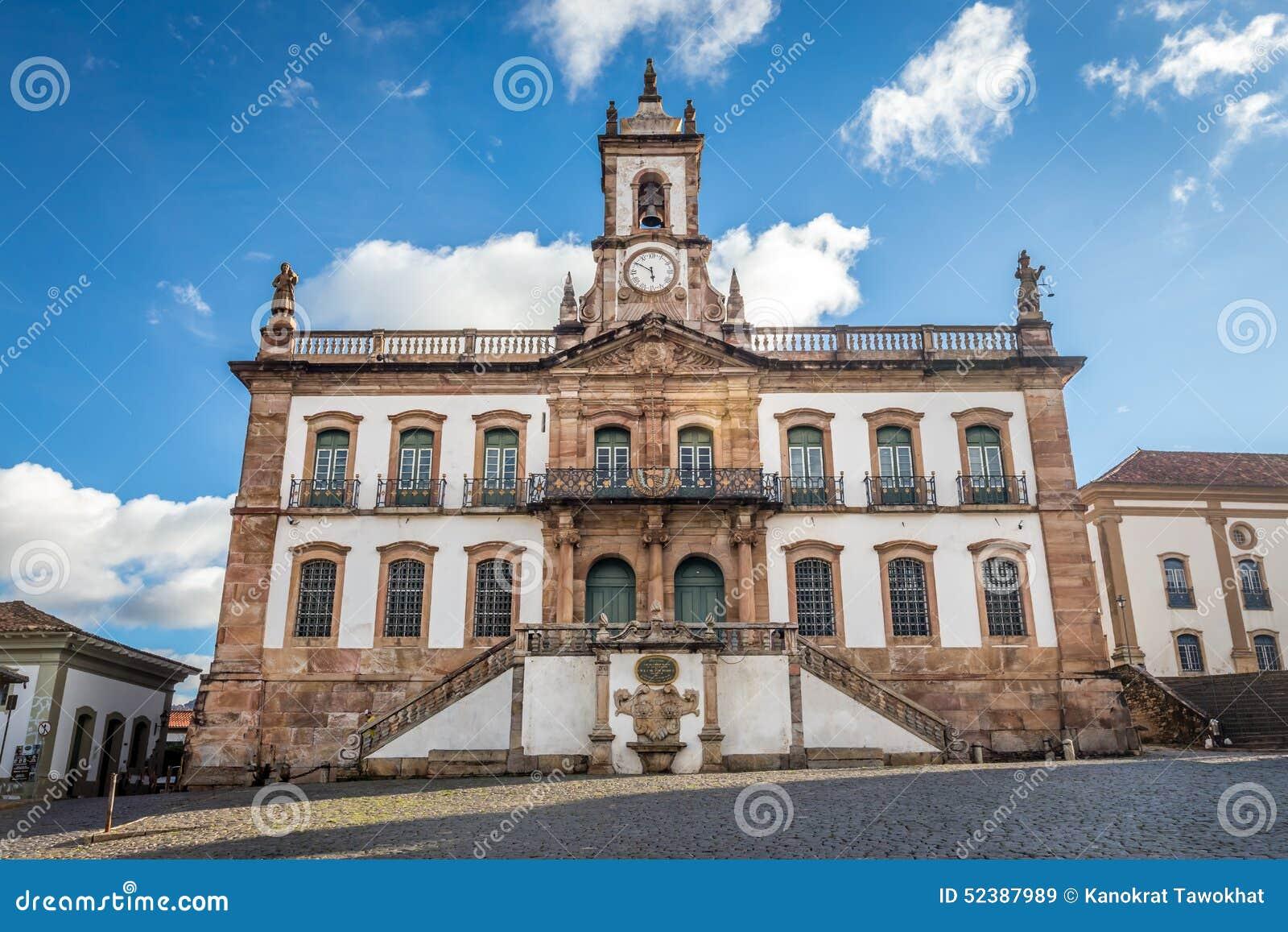 Musée de trahison de place de Tiradentes dans Ouro Preto, Brésil