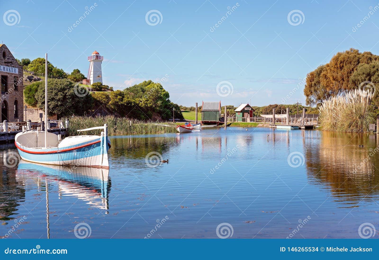 Musée maritime de colline de la hampe de drapeaux de Marina At Australia du 19ème siècle