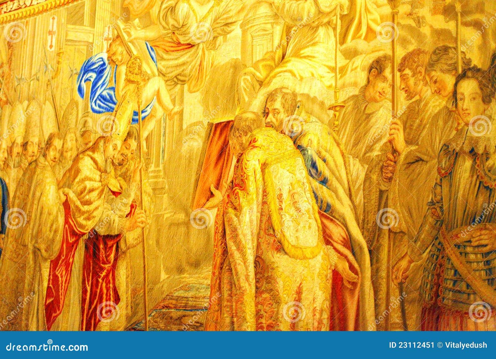 Musées de Vatican - rampe de Vatican. Rome.