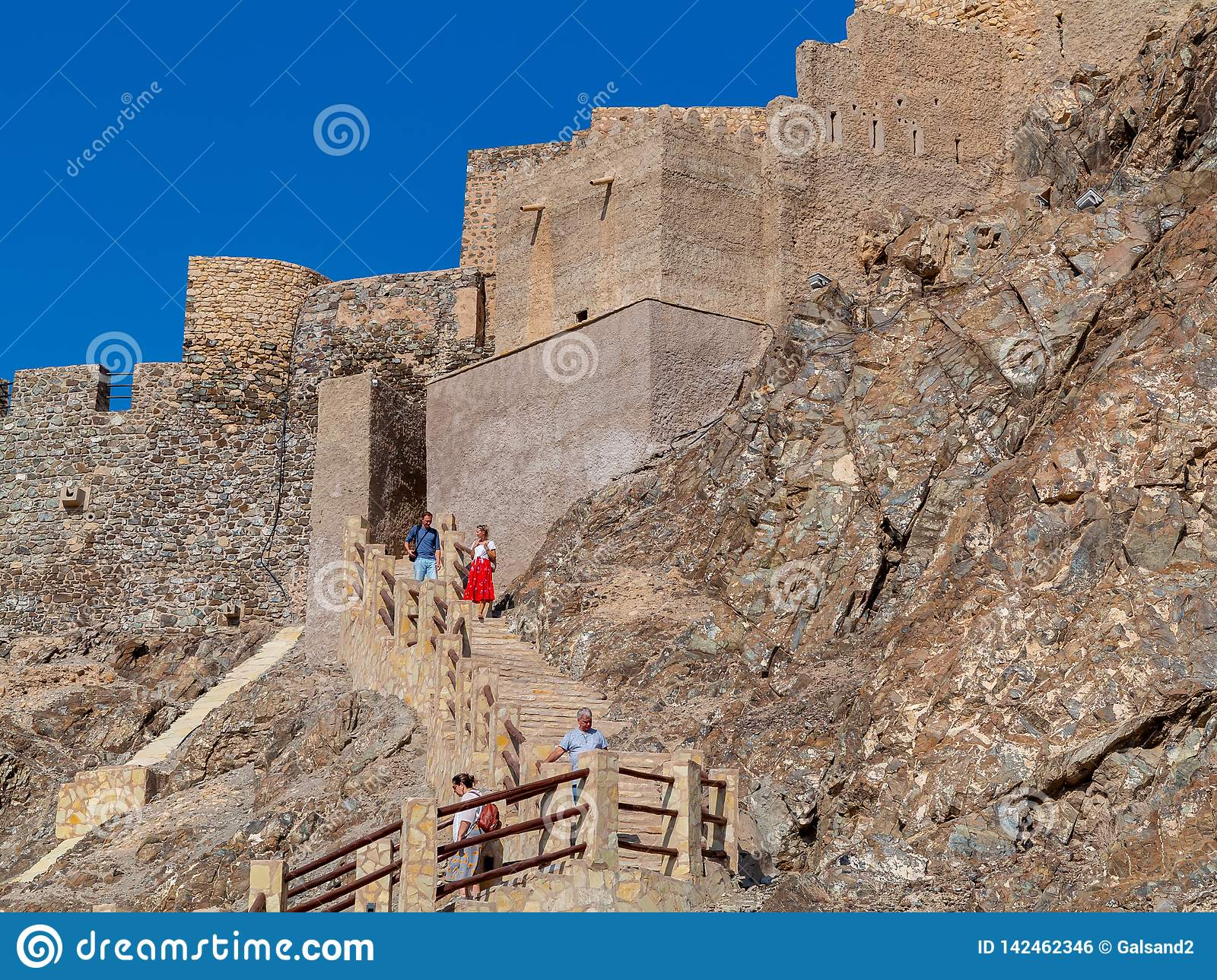 Muscat, Oman - December 17, 2018: Fort Muttrah In Muscat, The