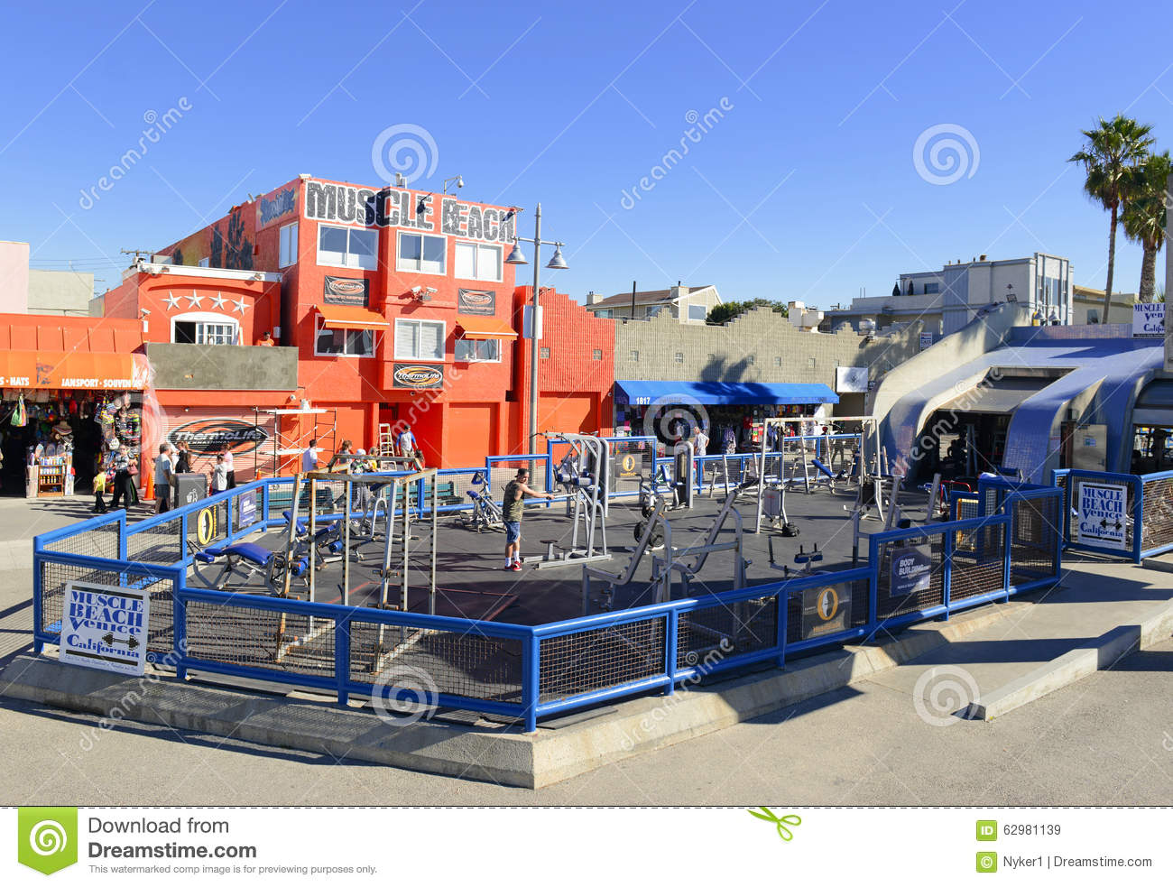 ... Weider, Muscle Beach near Los Angeles is a popular tourist attraction