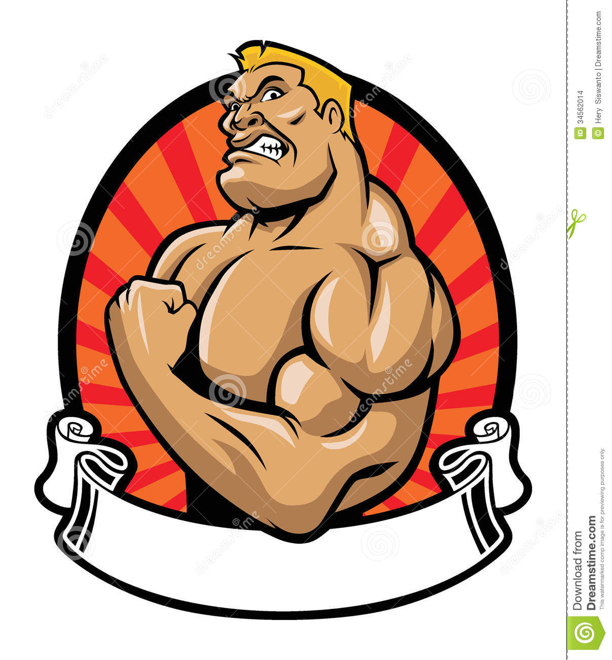 Muscle bodybuilder stock vector illustration of sporty - Cartoon body builder ...
