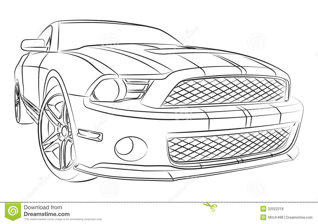 Muscle Car Drawing Illustration 32022218 Megapixl