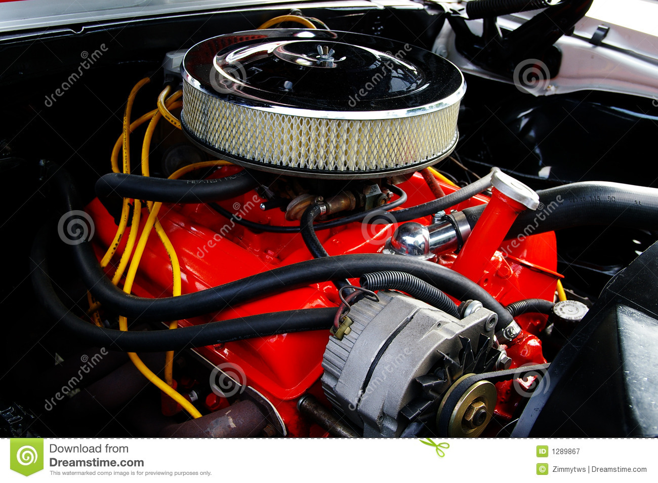 Muscle Car Engine Royalty Free Stock Images Image