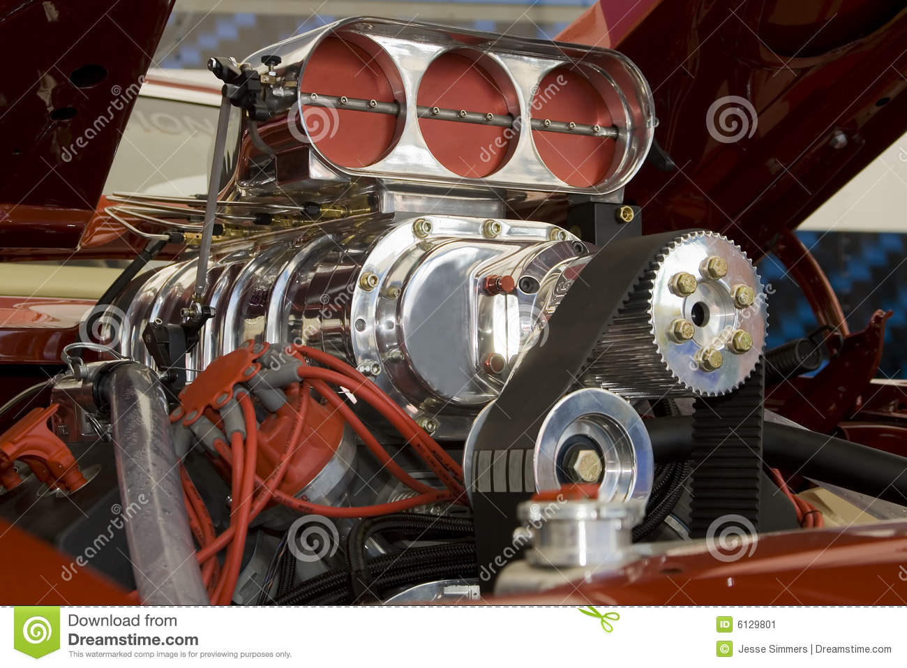 Muscle Car Engine Stock Image Image Of Engine Automobile 6129801