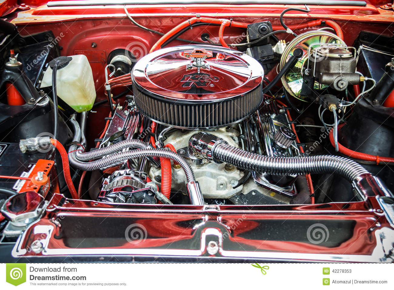 Muscle Car Engine Editorial Stock Photo Image