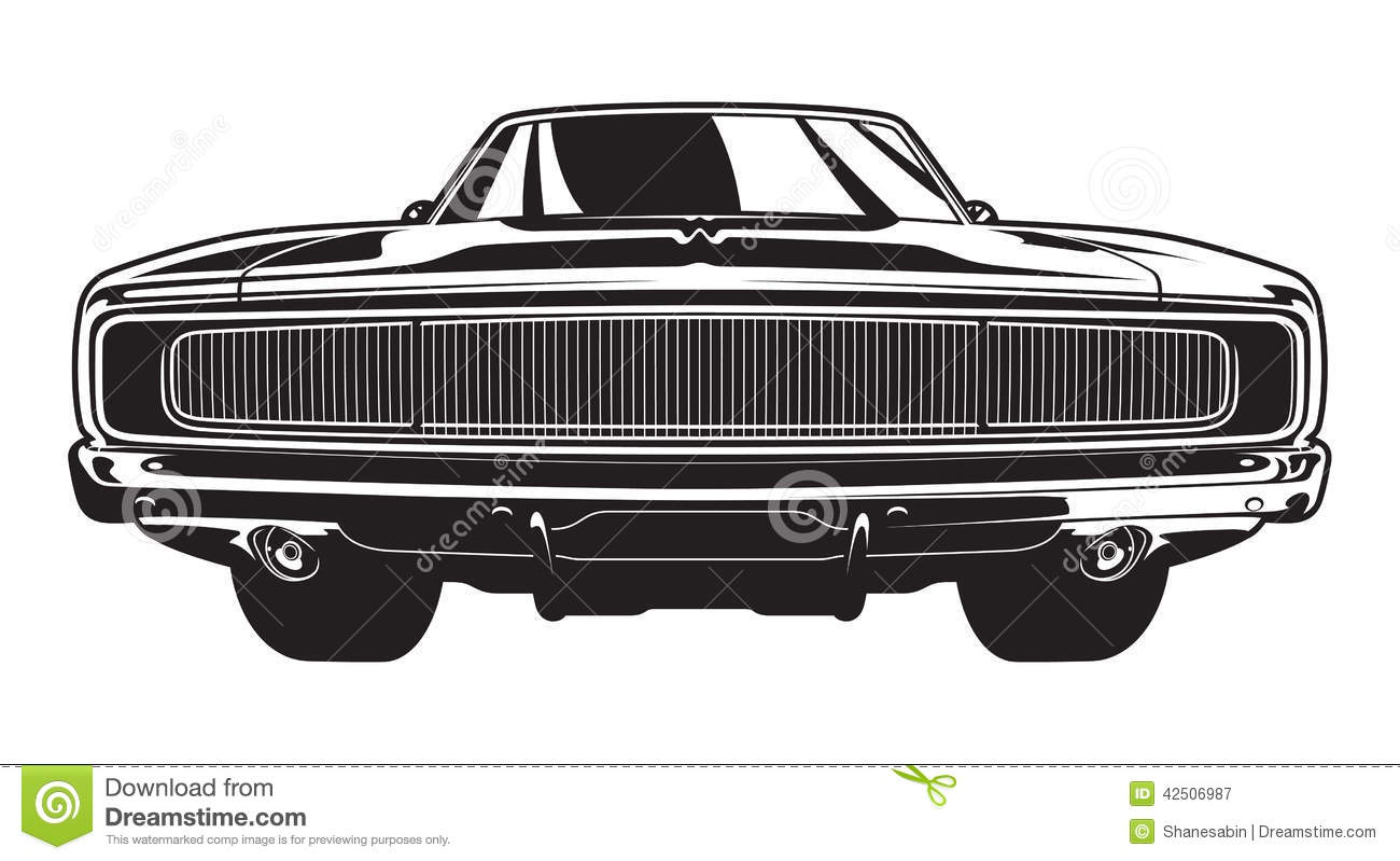 Muscle Car Profile Stock Images Image