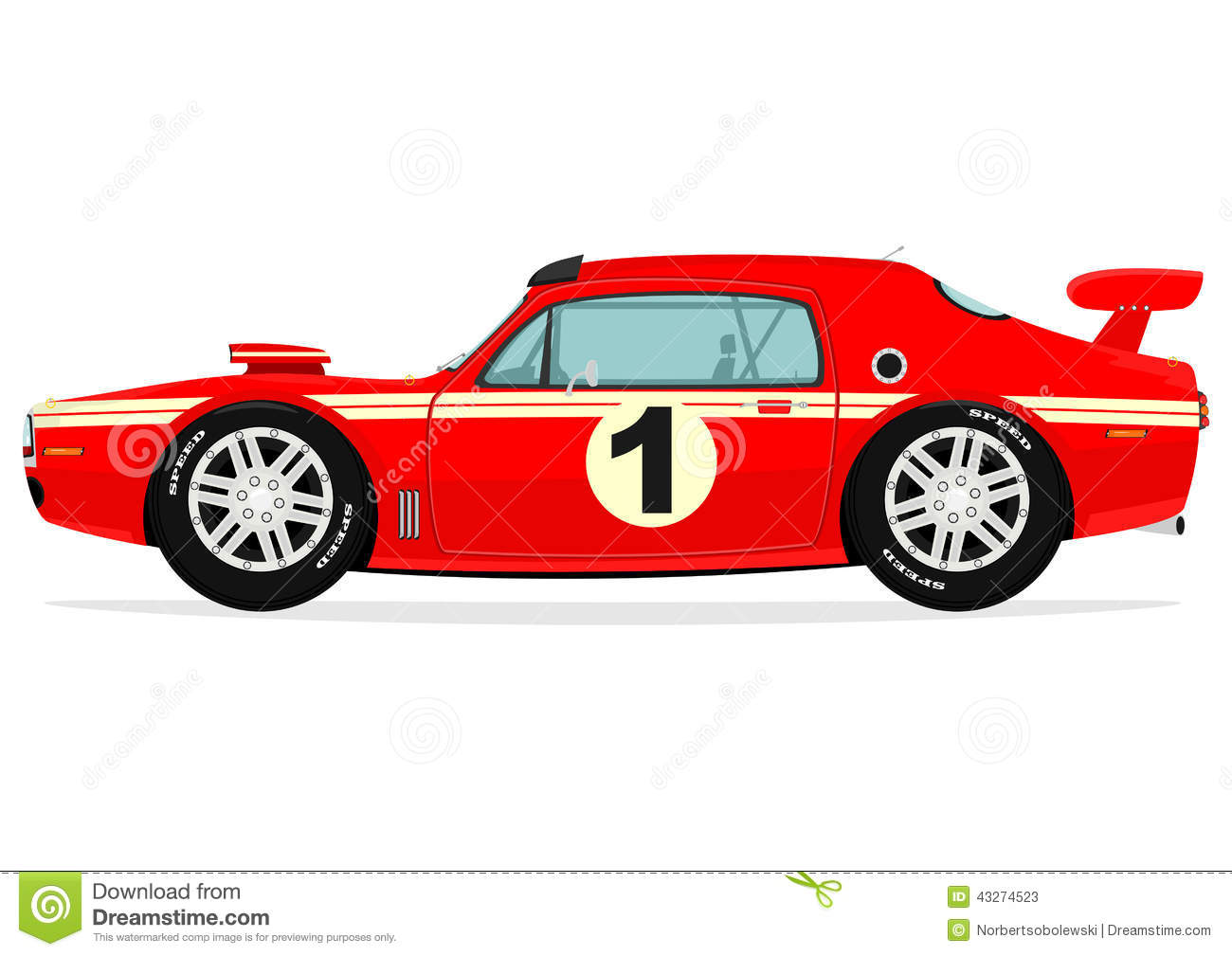 Muscle Car Stock Vector Illustration Of Power Funny 43274523