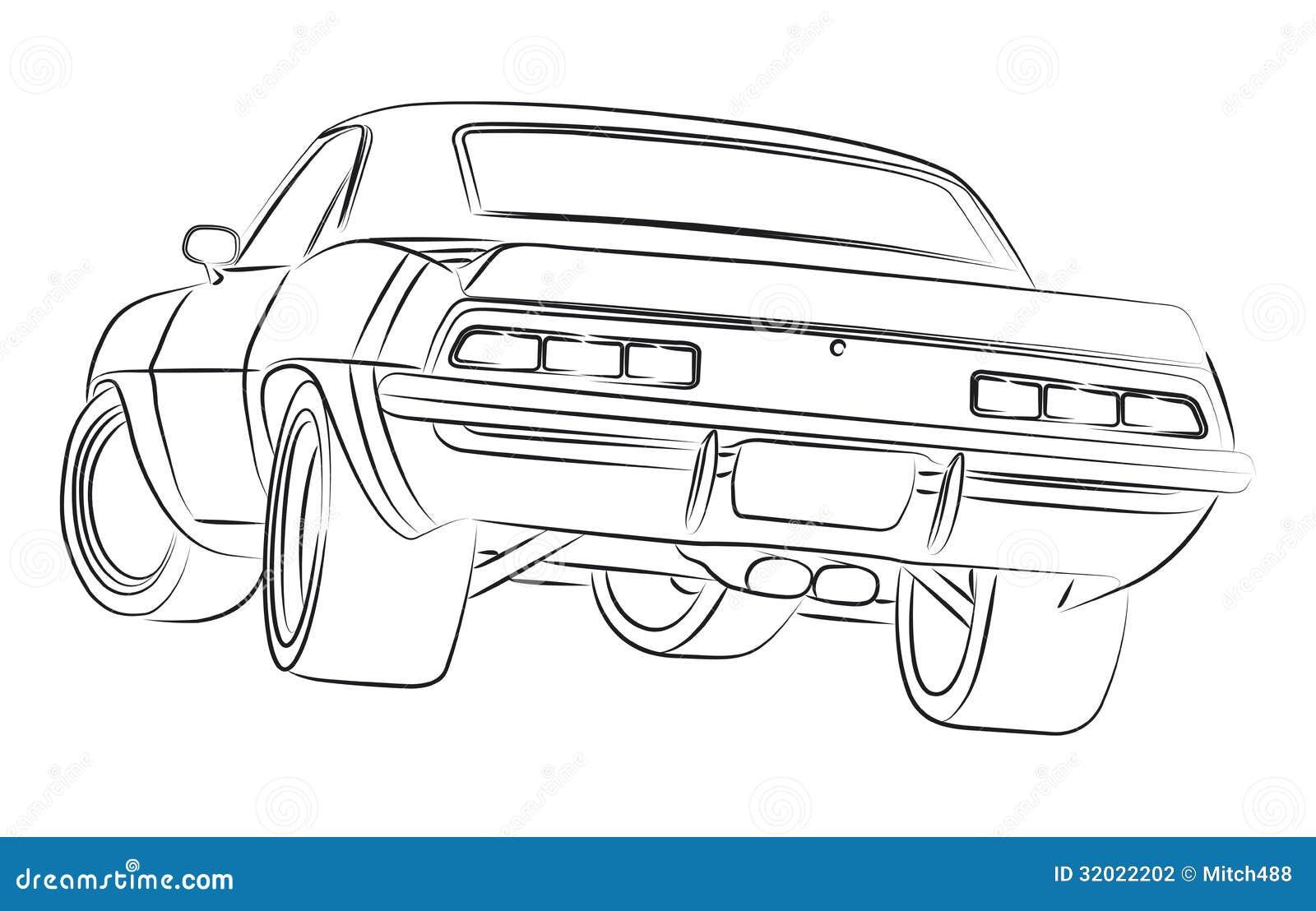 Muscle Car Ilustration Stock Illustration Illustration Of Auto