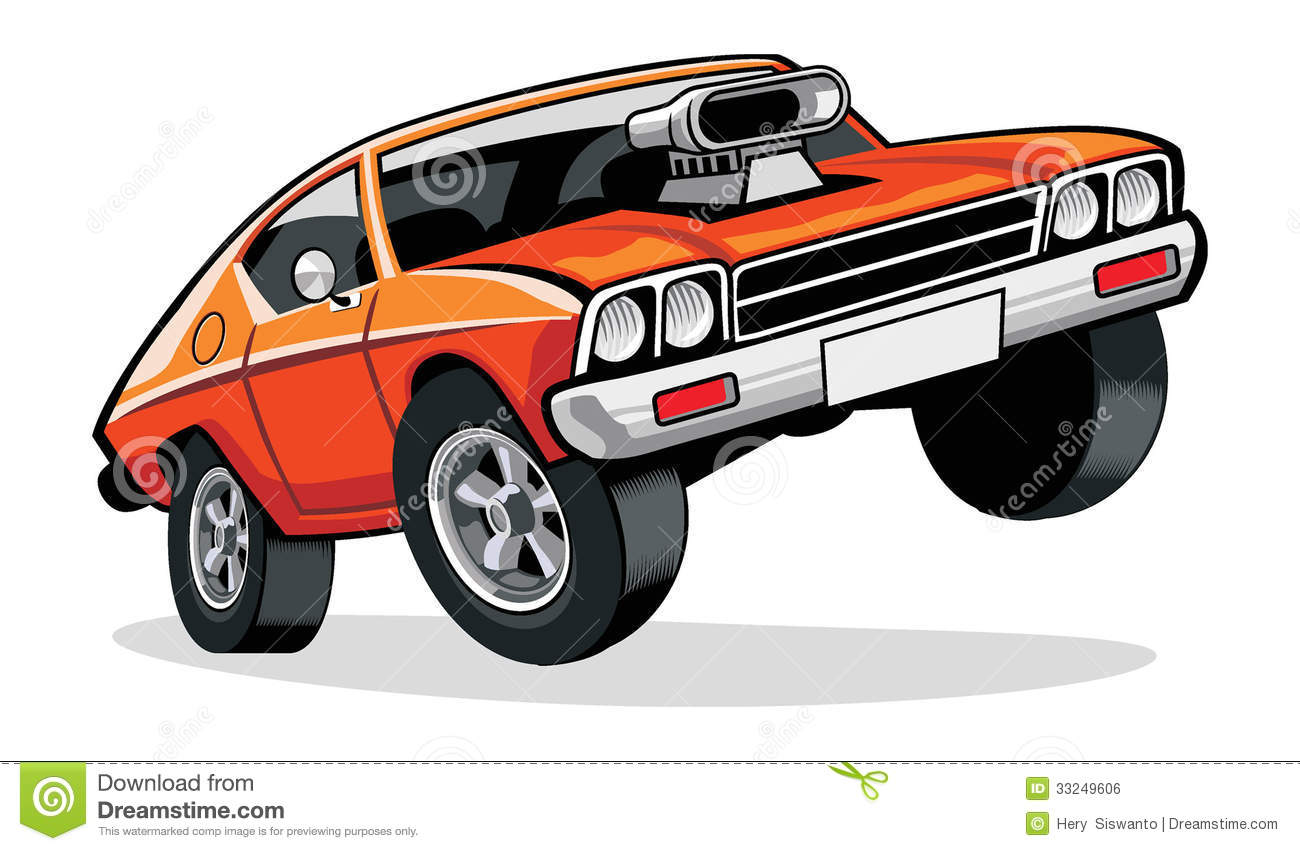 Muscle Car Stock Vector Illustration Of Speed Chrome 33249606