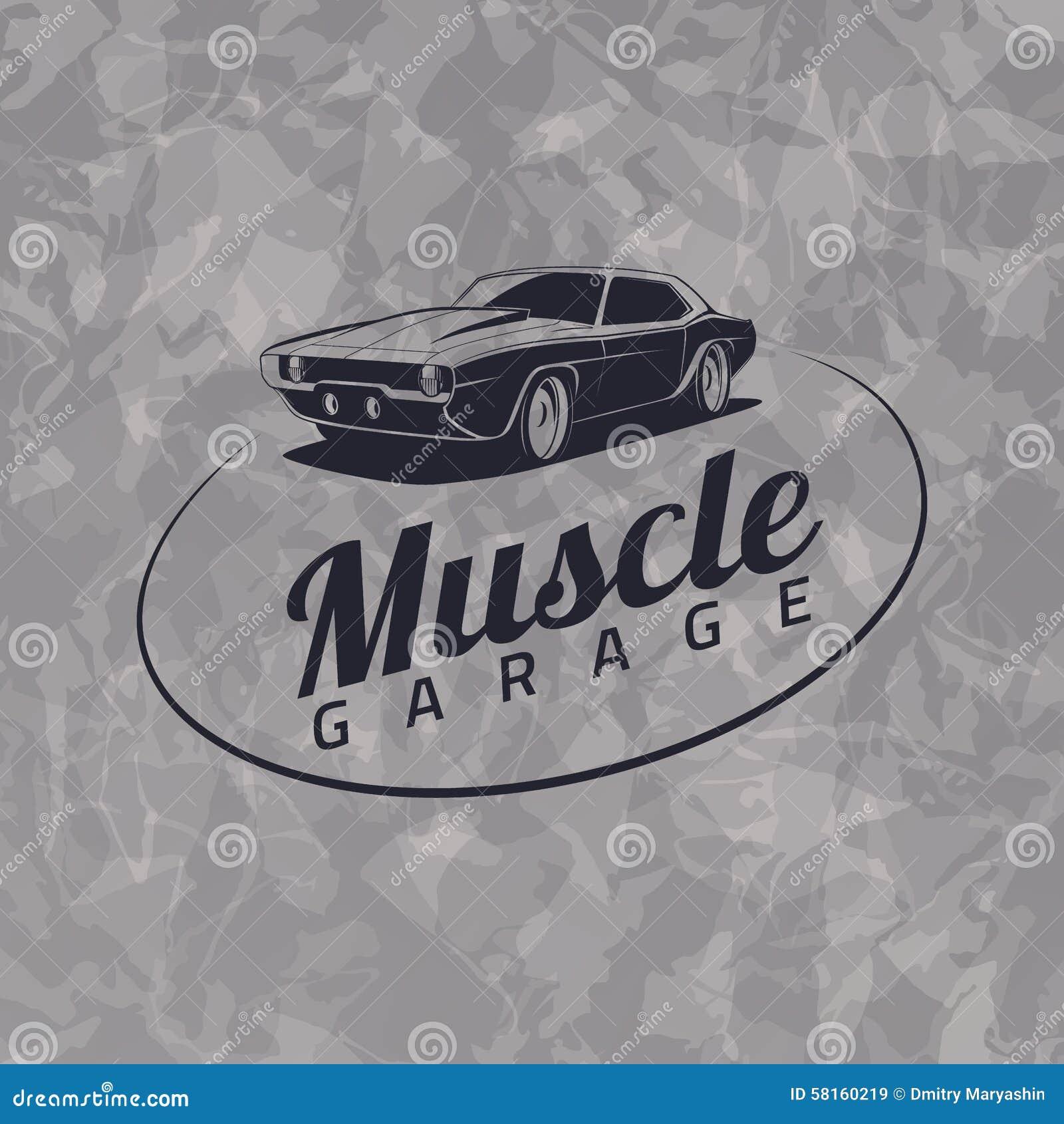 Muscle Car Logo Stock Vector Image