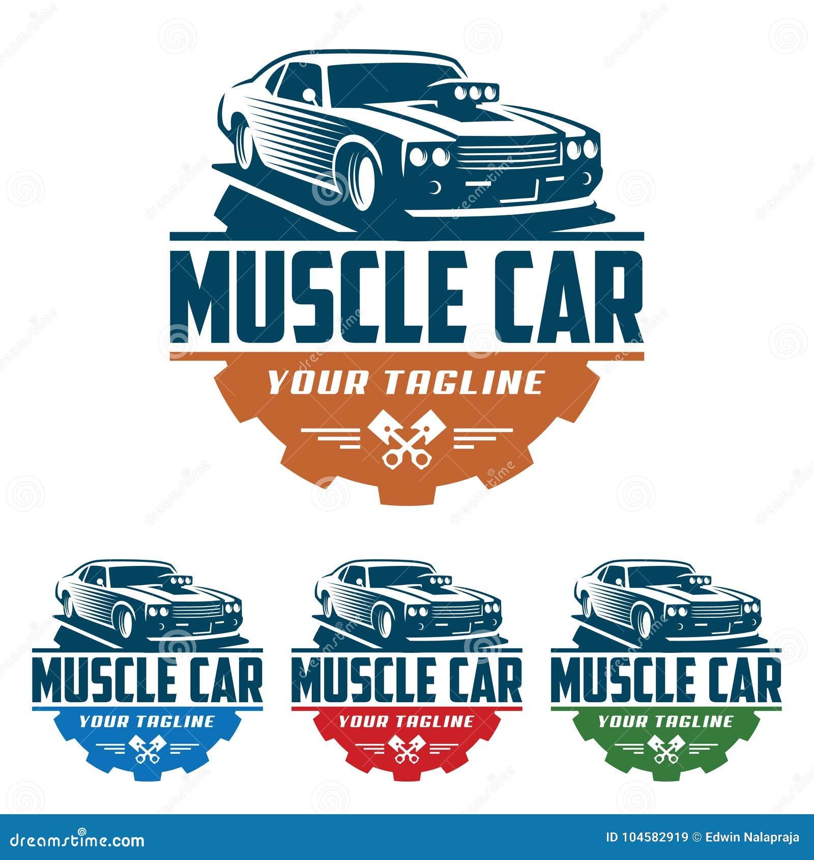 Muscle car logo, retro logo style, vintage logo