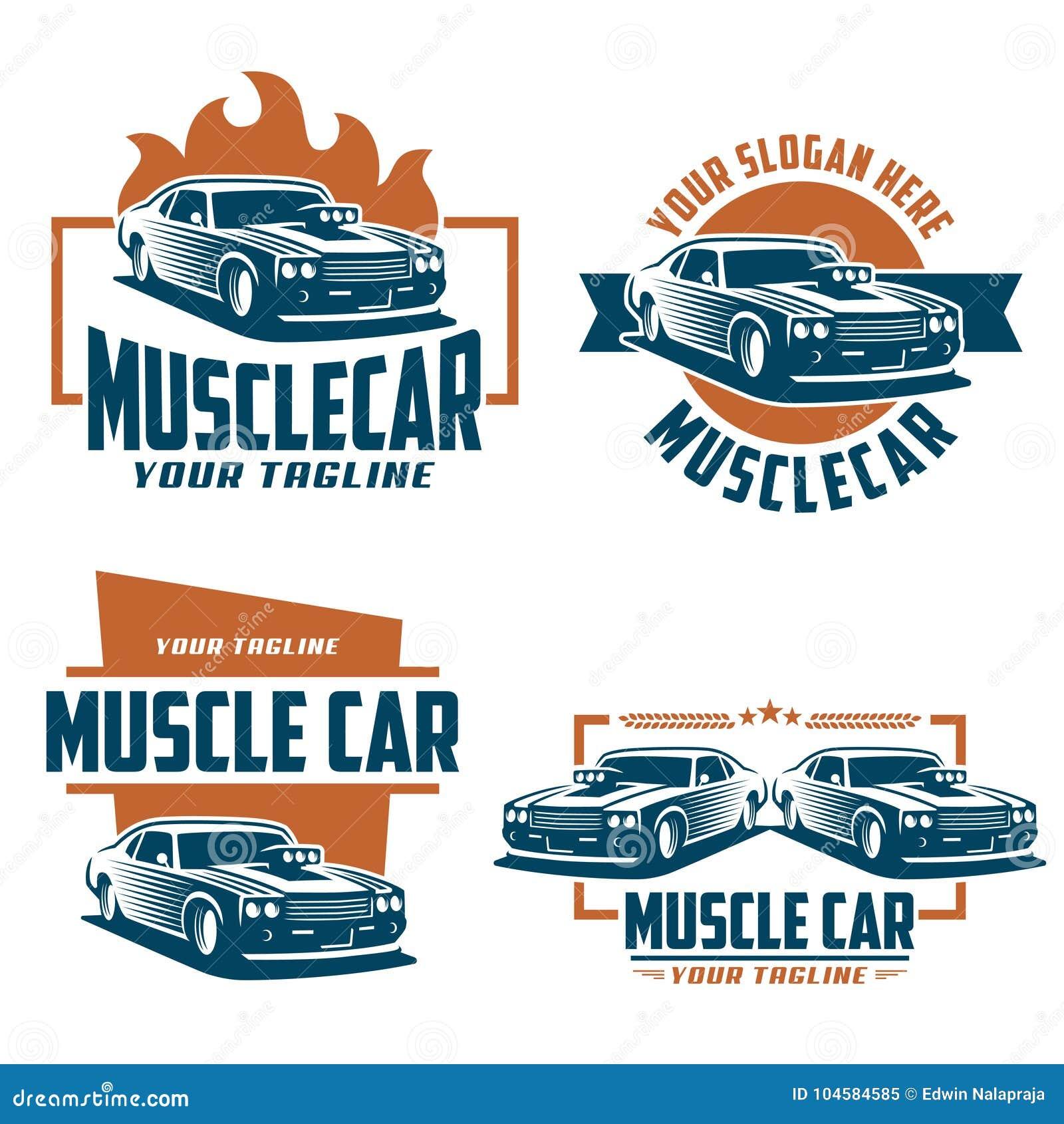 Muscle Car Logo Retro Logo Style Vintage Logo Stock Vector