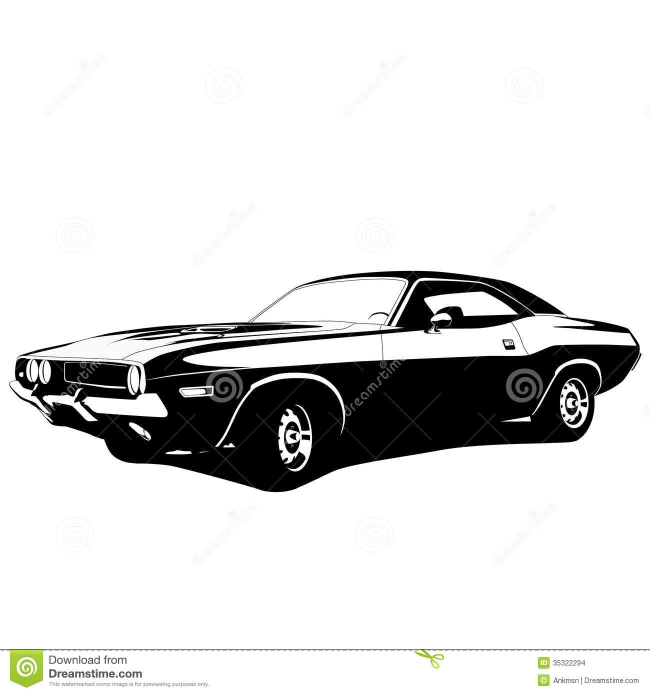 Muscle Car Profile Stock Vector Illustration Of Muscle