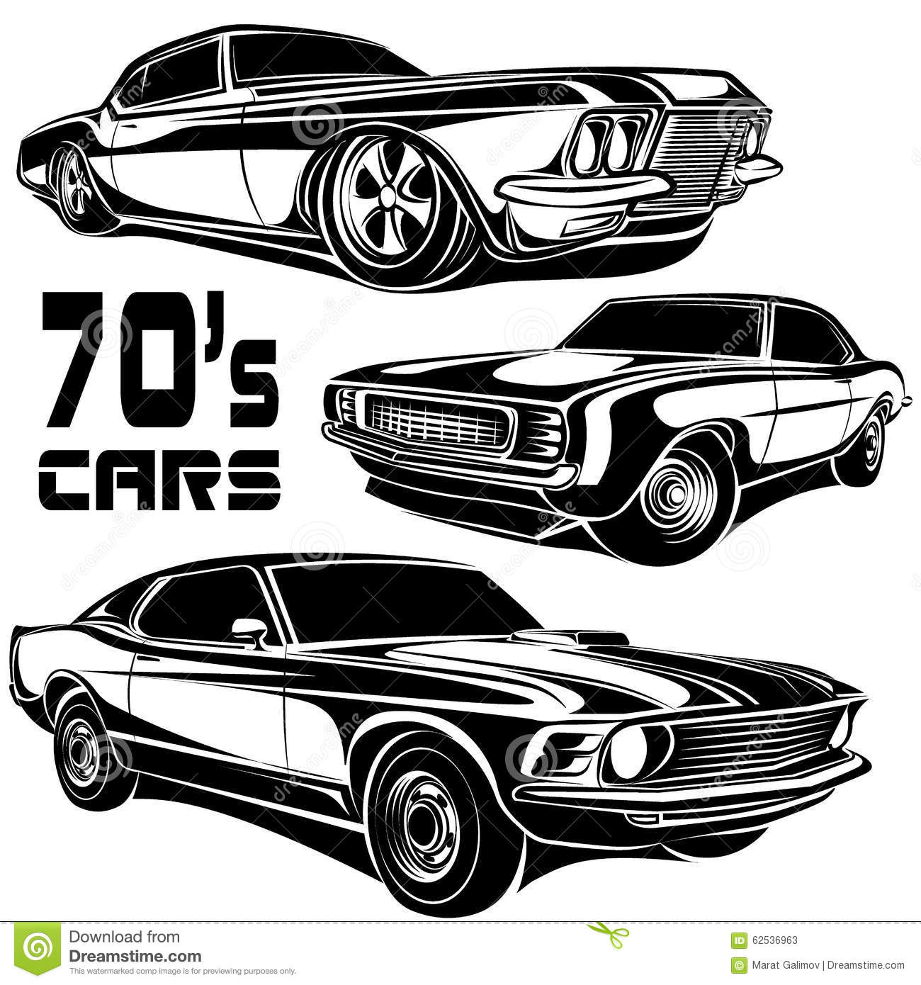 Muscle Car Vector Poster Illustration 62536963 Megapixl