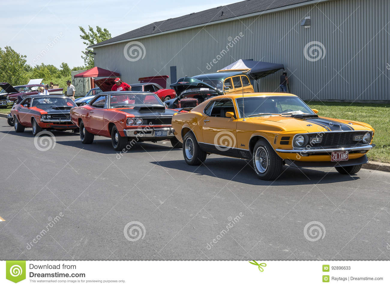 Muscle Cars Line Up Editorial Stock Photo Image Of Model 92896633
