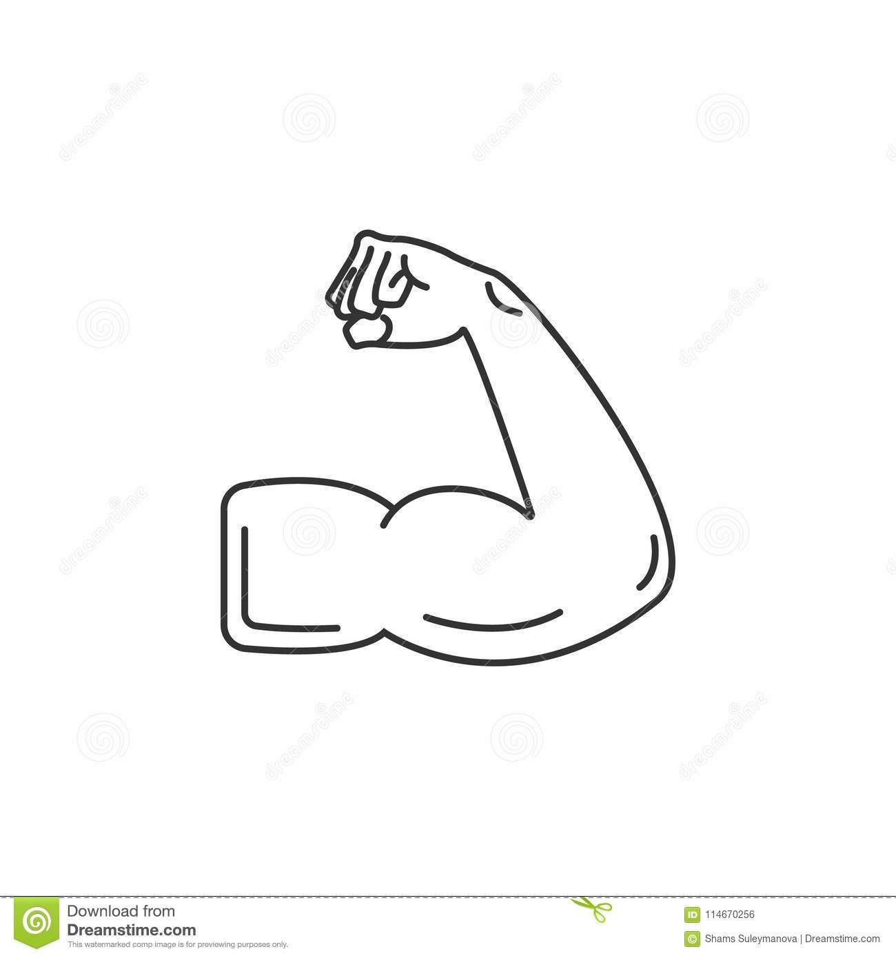 muscle icon simple element illustration muscle symbol design